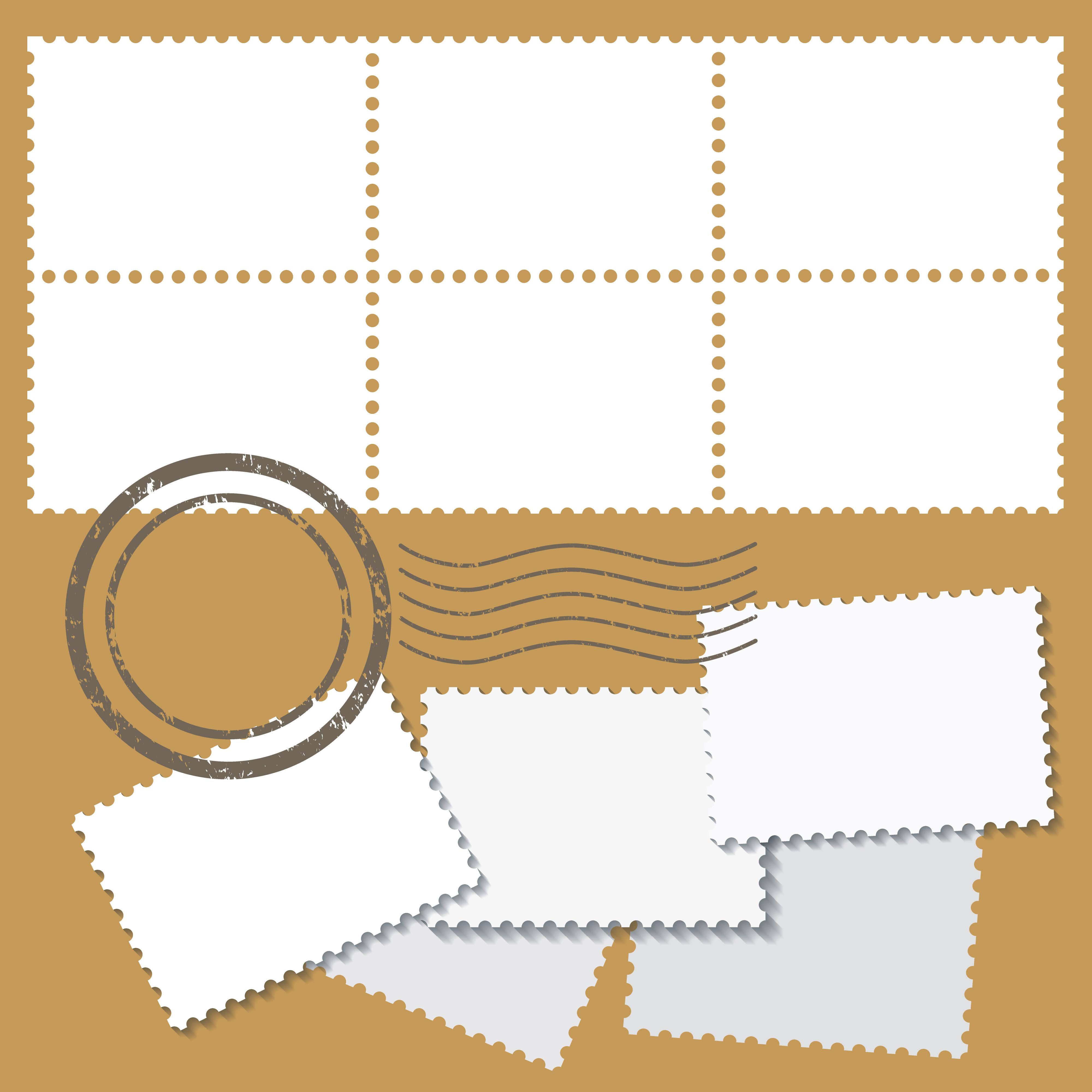 Blank Postage Marks