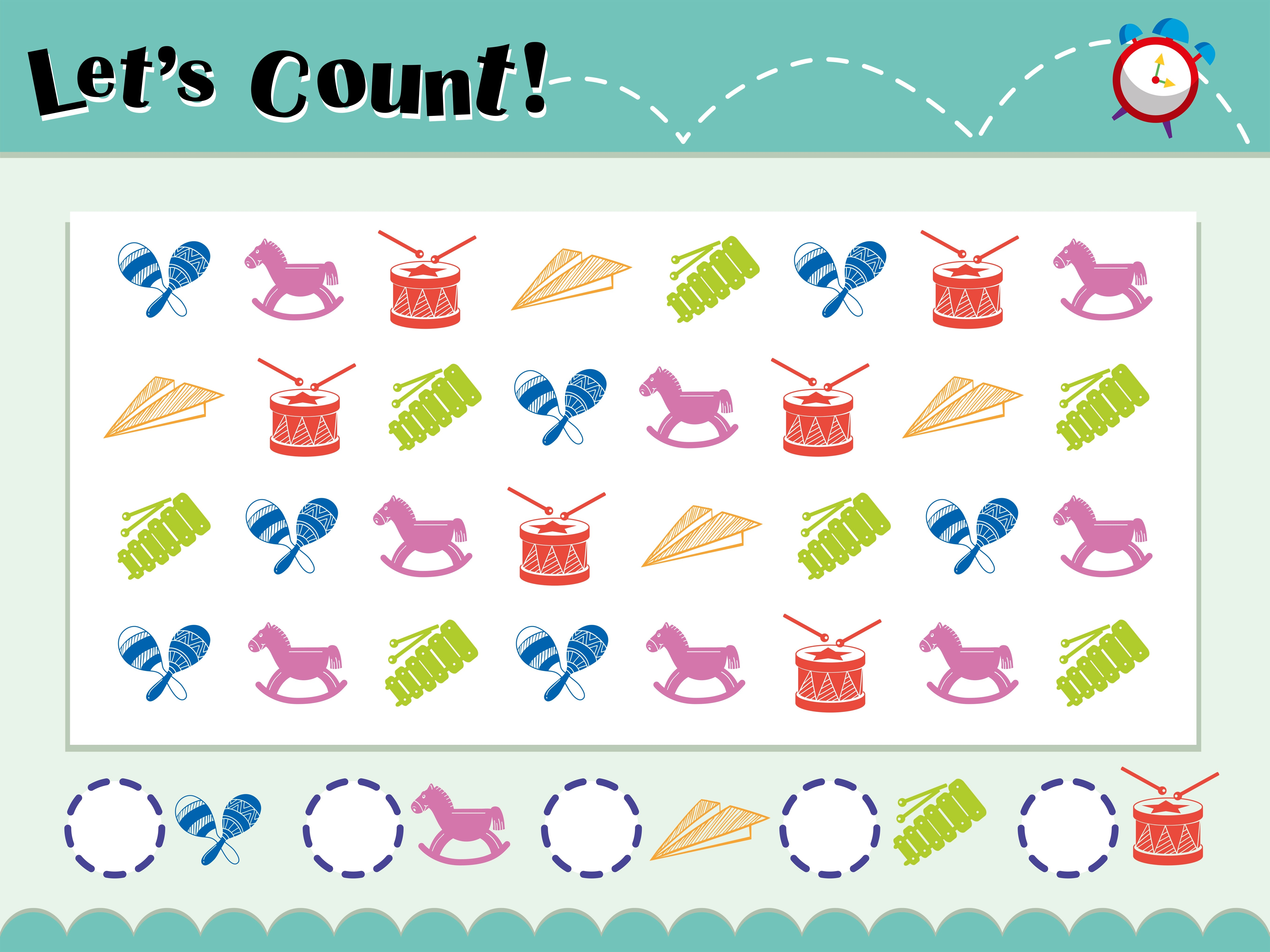 Game Template For Counting Objects