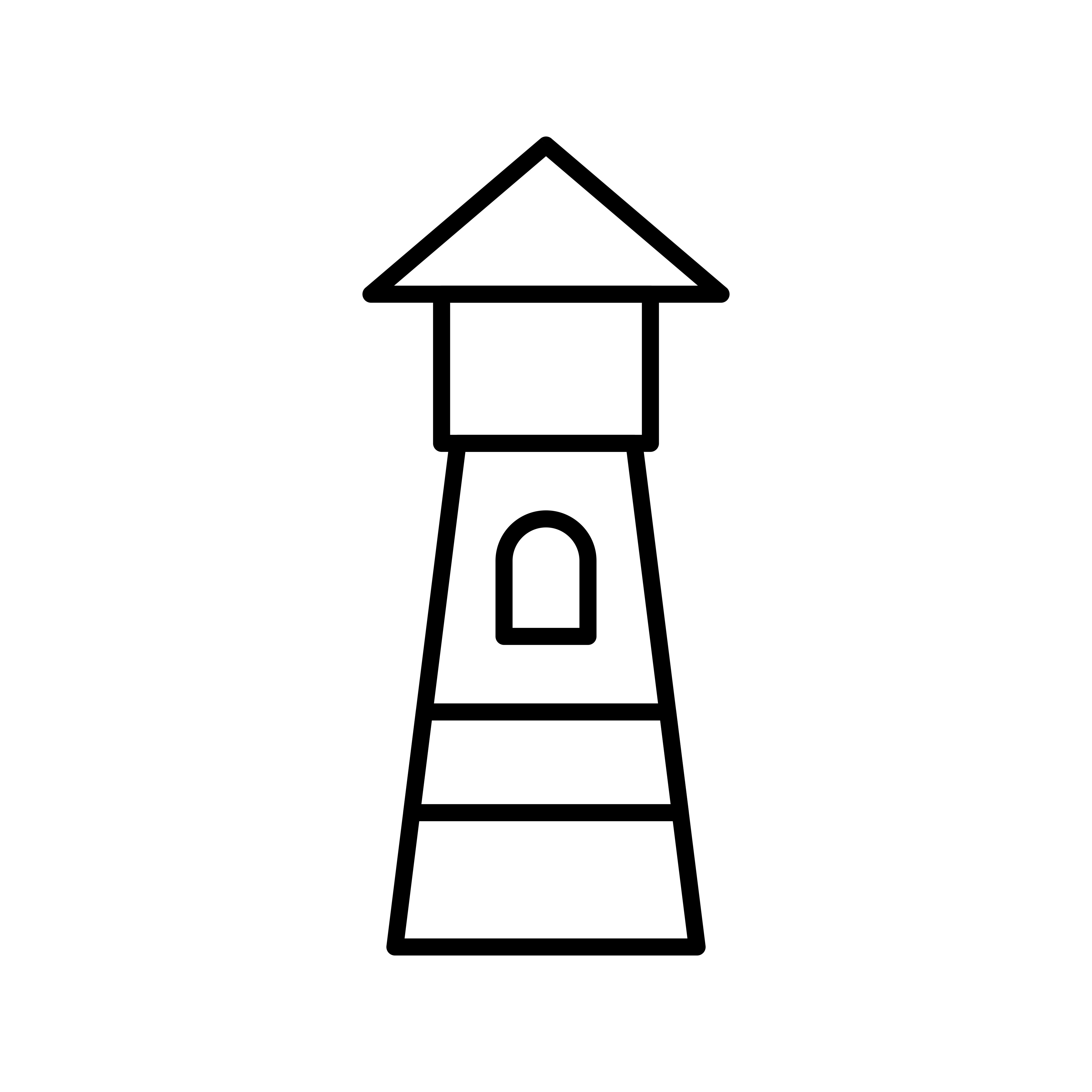 Lighthouse Line Black Icon