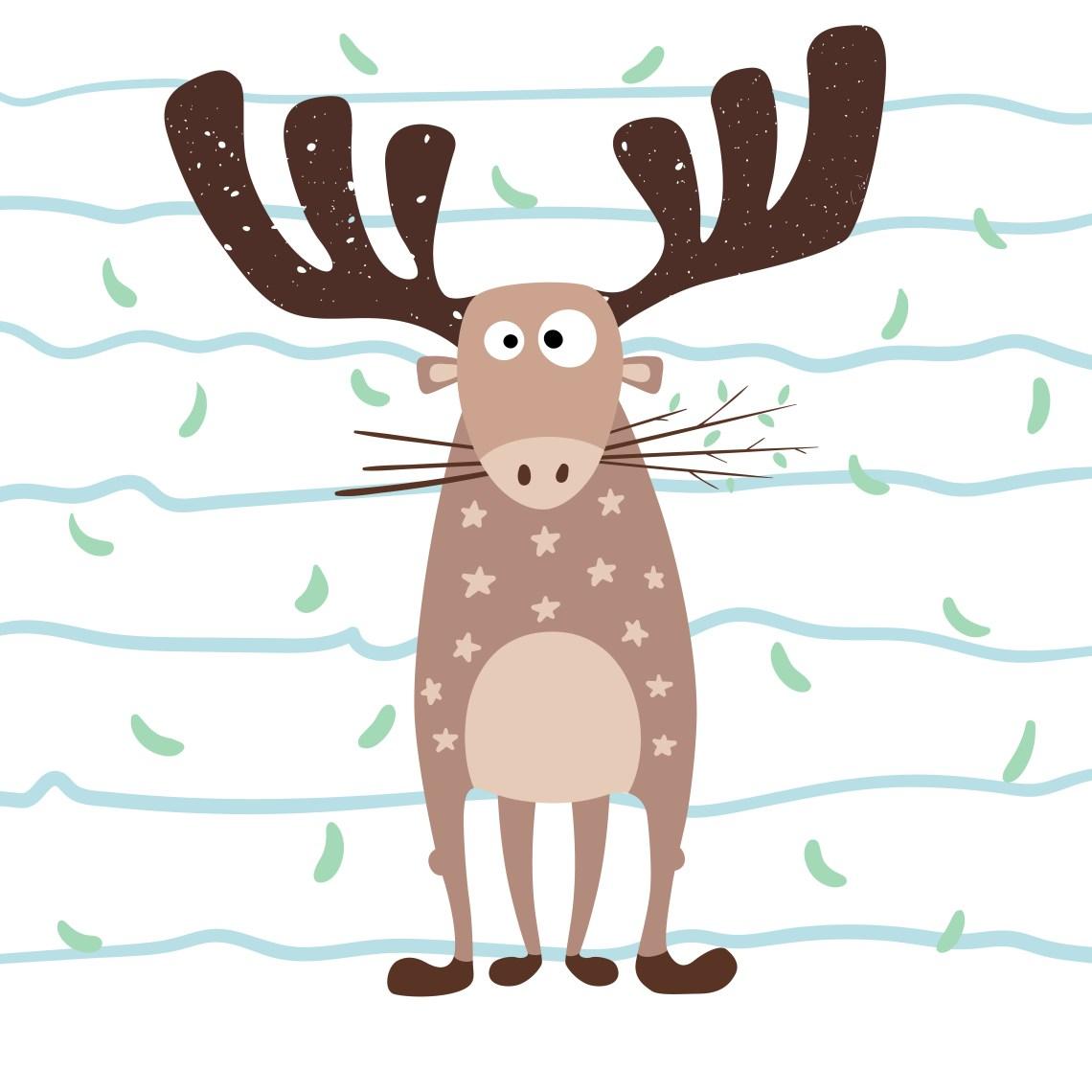 Download Teddy deer love - cartoon funny illustration. - Download ...