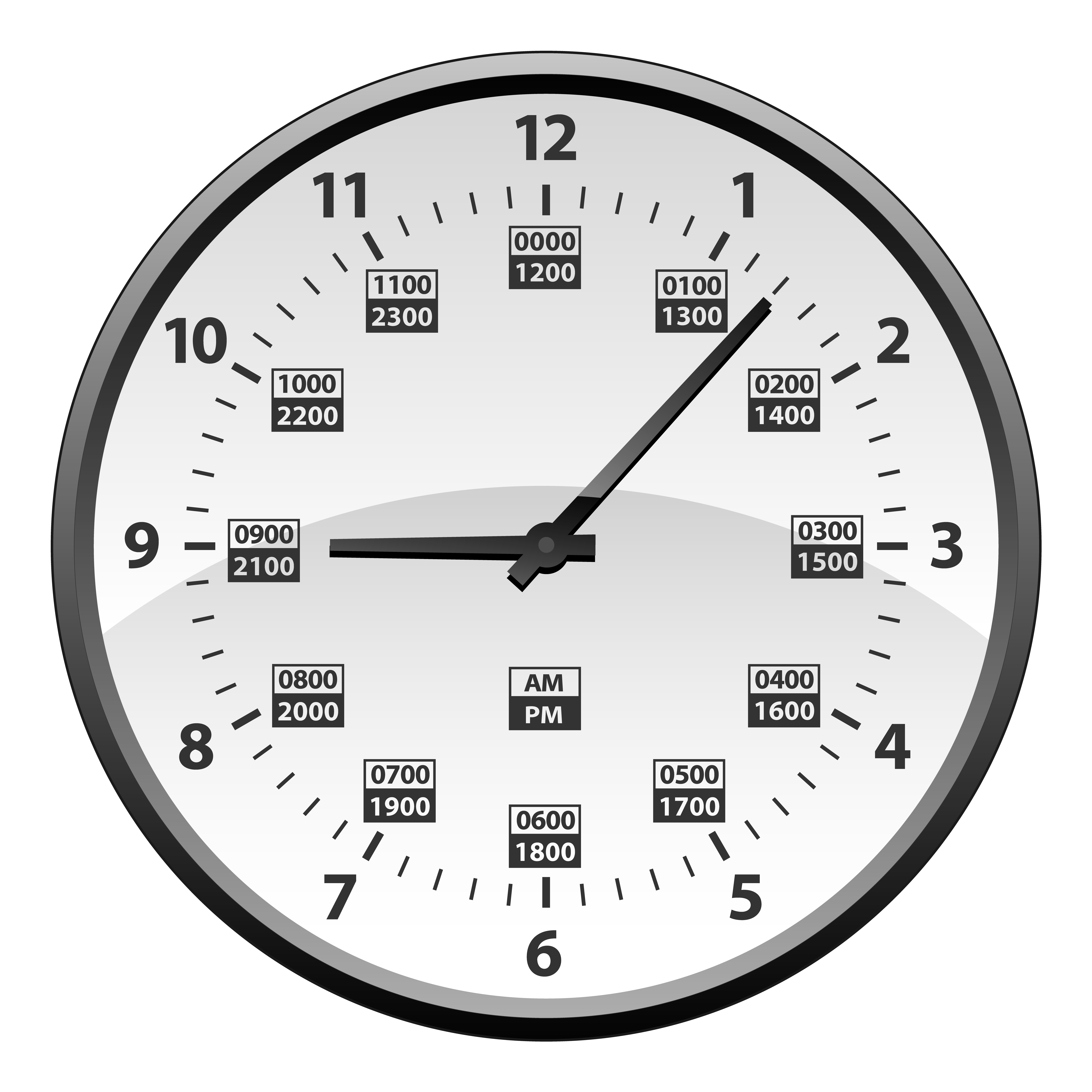 Realistic 12 To 24 Hour Military Time Clock Conversion