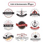 Cafe And Restaurant Logos Vintage Design Download Free Vectors Clipart Graphics Vector Art