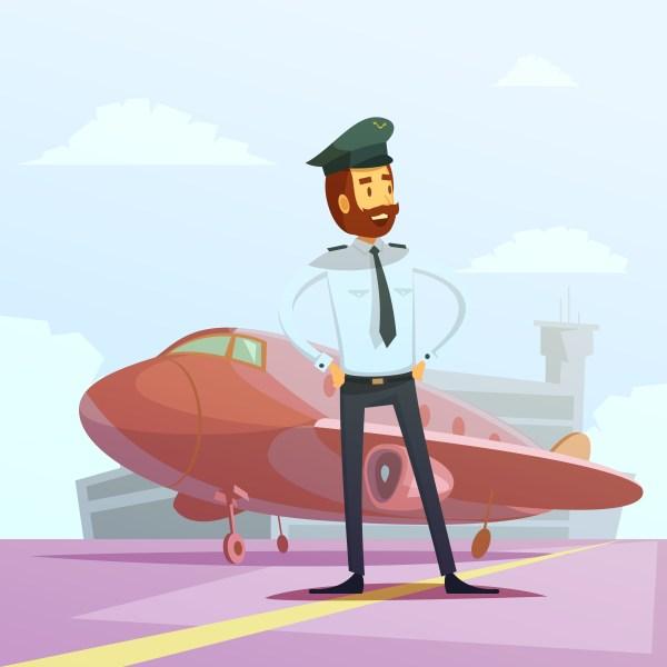 Pilot Cartoon Illustration - Download Free Vectors ...