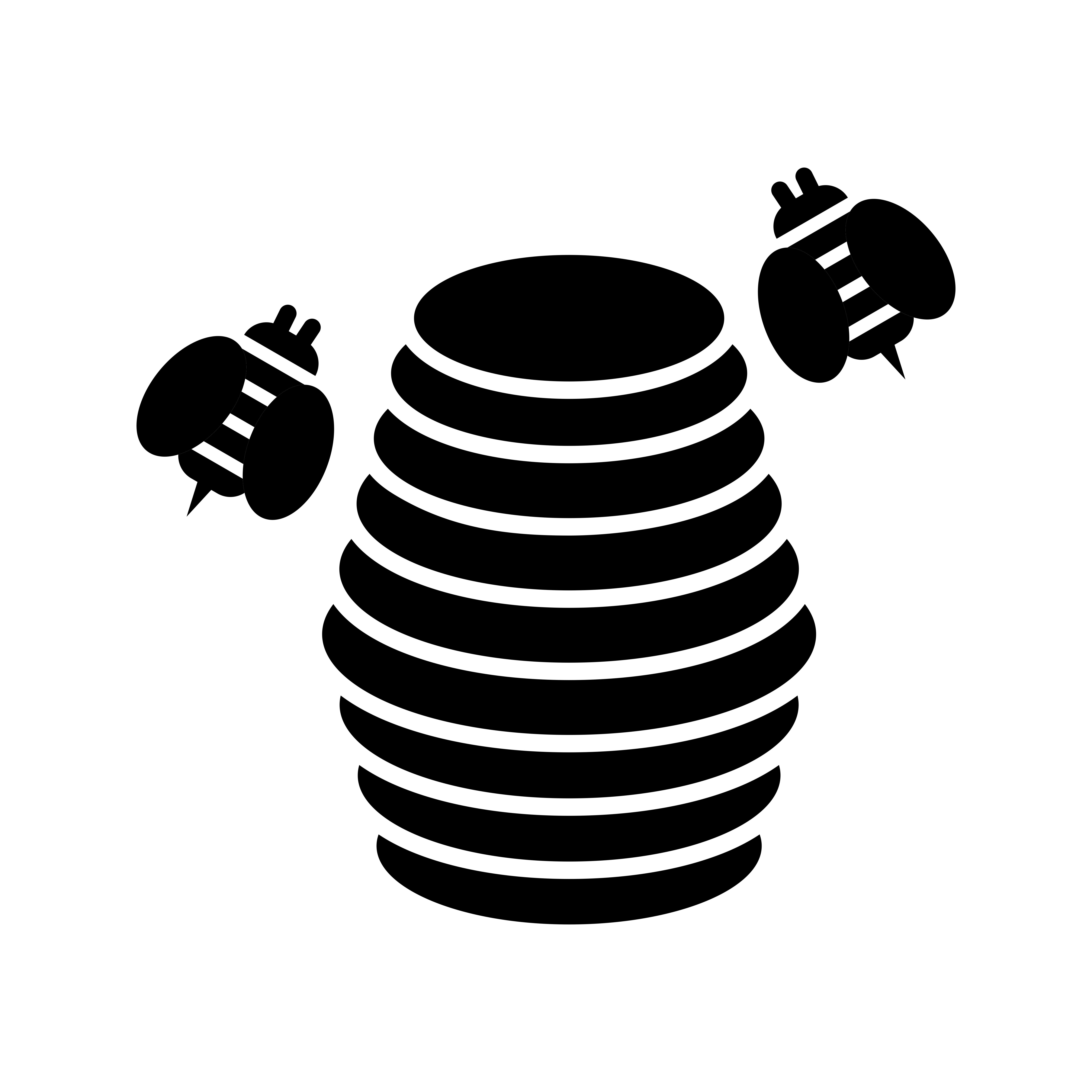 Hive Glyph Black Icon