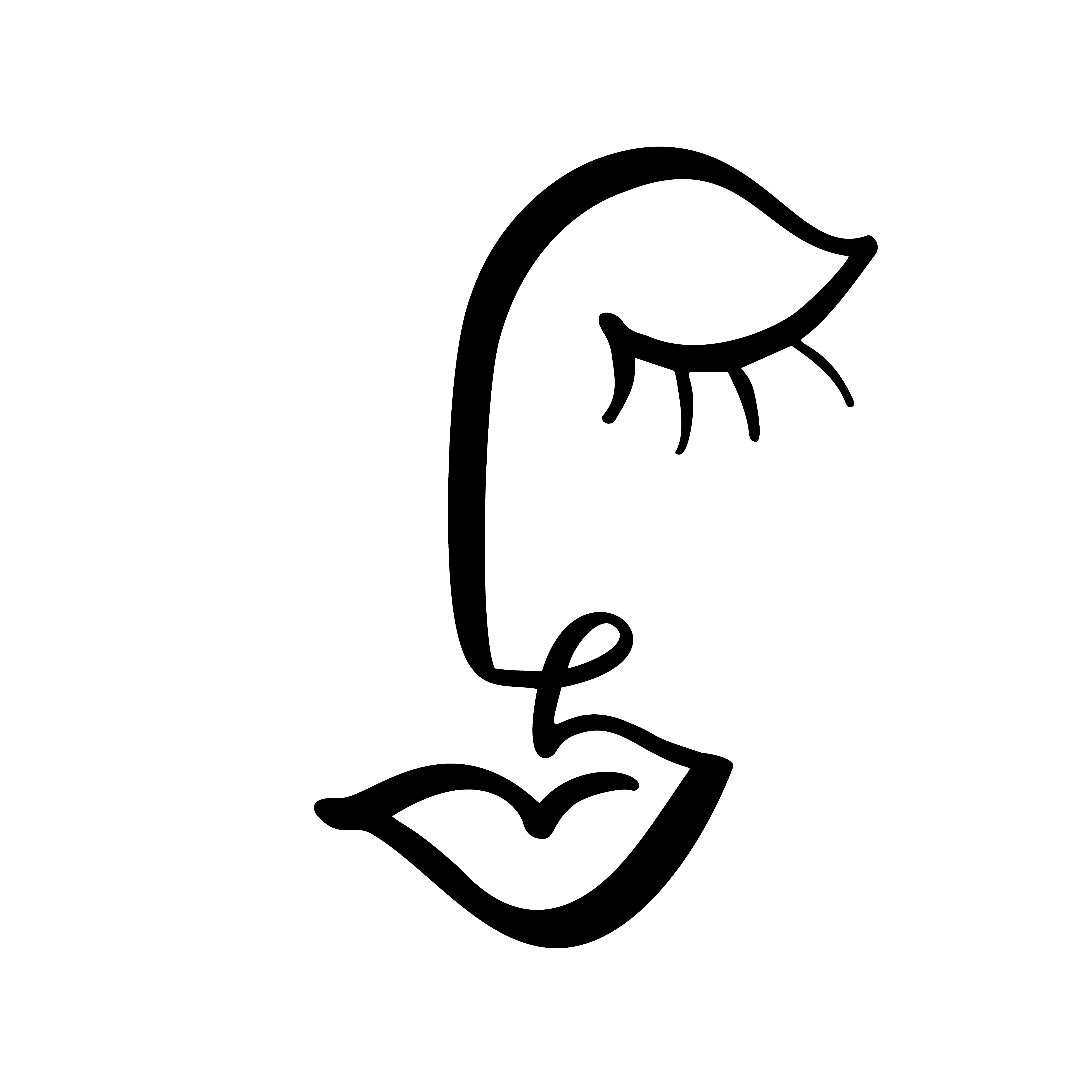 Continuous Line Drawing Of Woman Face Fashion Minimalist