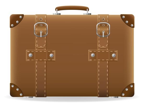 old suitcase for travel vector illustration - Download ...
