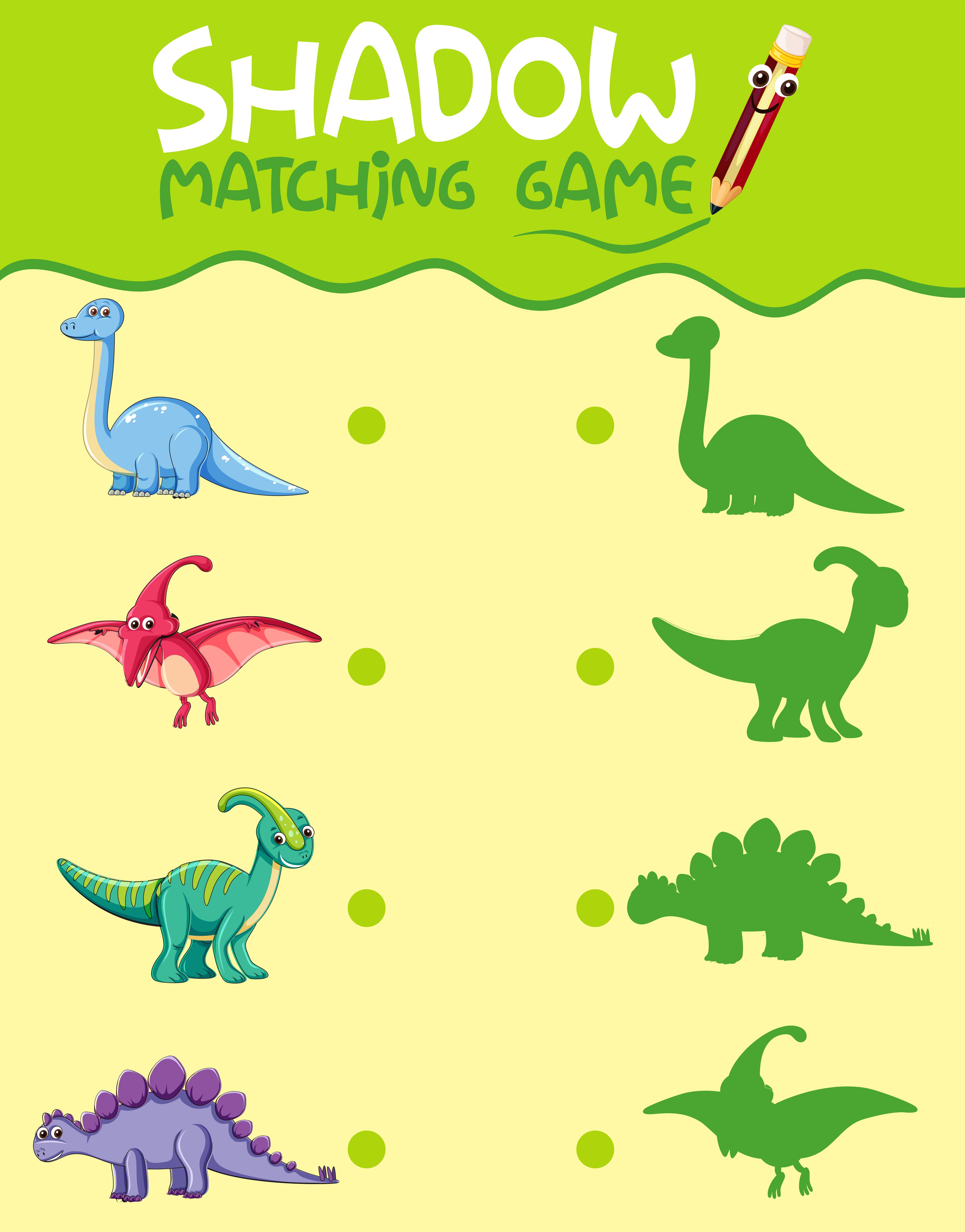 Matching Dinosaur Shadow Worksheet