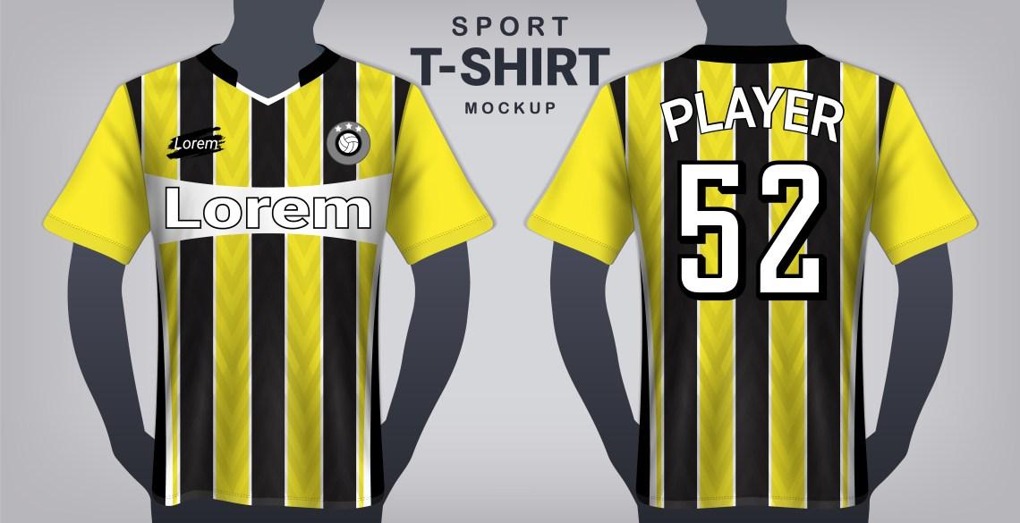 Download Fußball Jersey und Sport T-Shirt Mockup Template ...