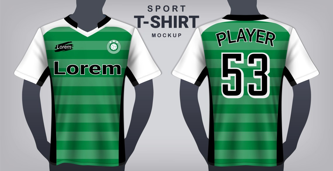 Download Soccer Jersey and Sport T-Shirt Mockup Template ...