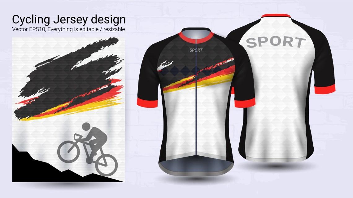 Download Cycling Jerseys, Short sleeve sport mockup template ...