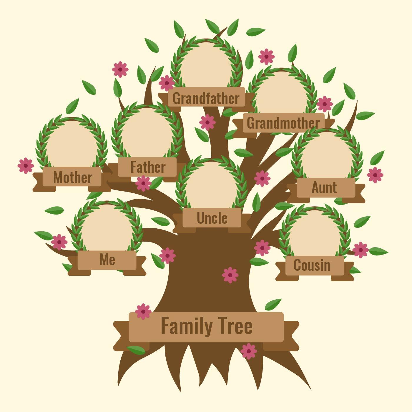 Arbol Genealogico Vectorial