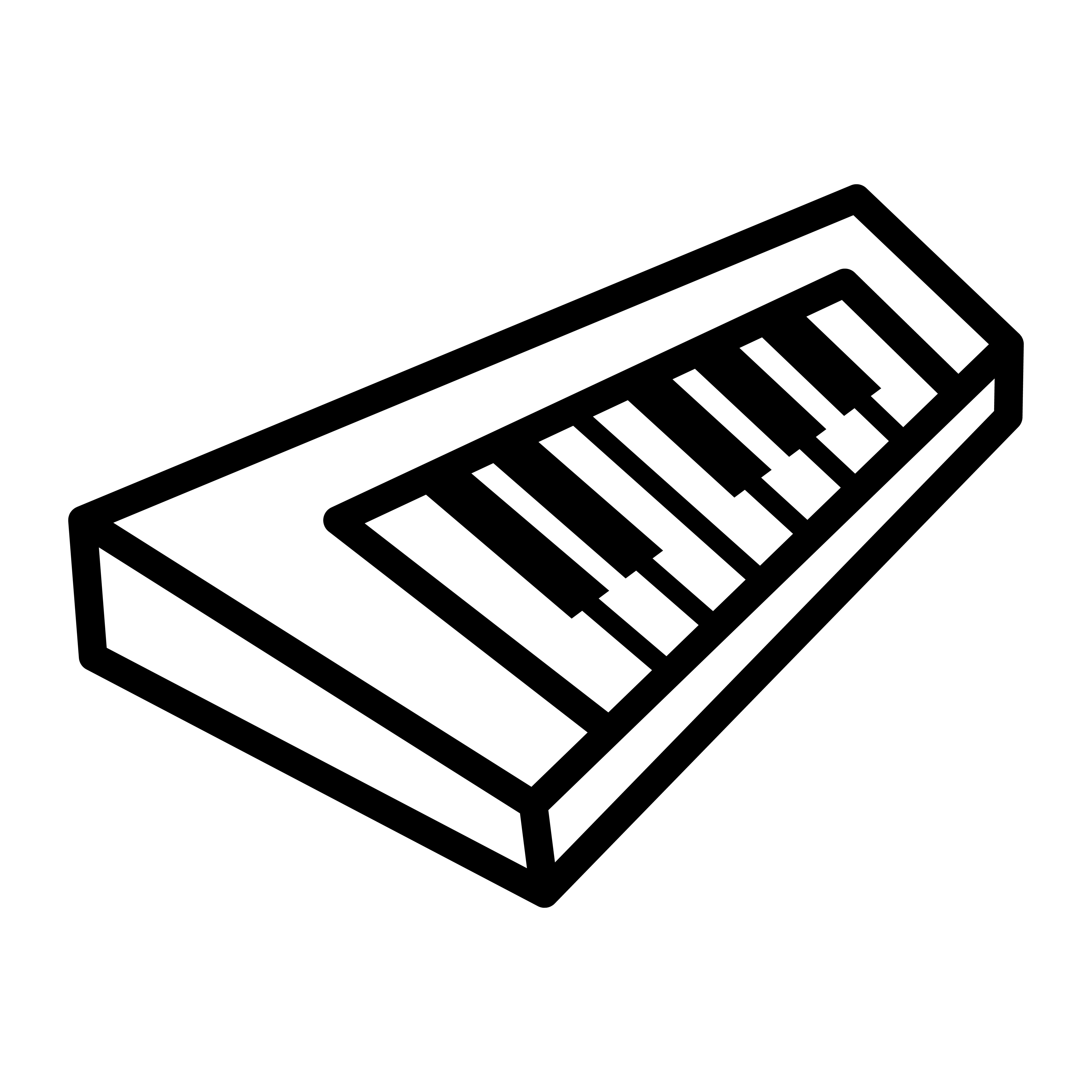 Piano Keyboard Musical Instrument Vector Icon