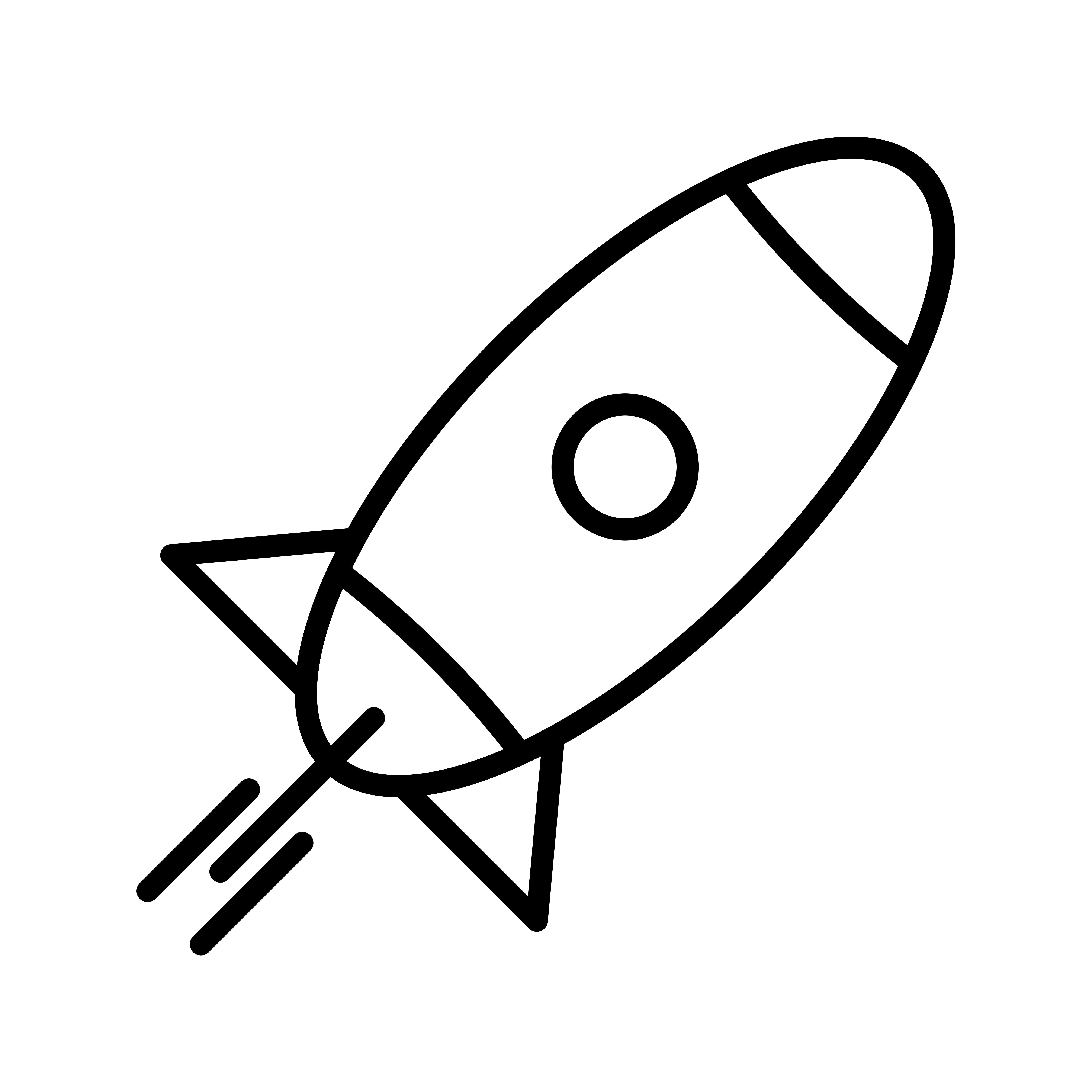 Rocket Line Icon Free Vector Art