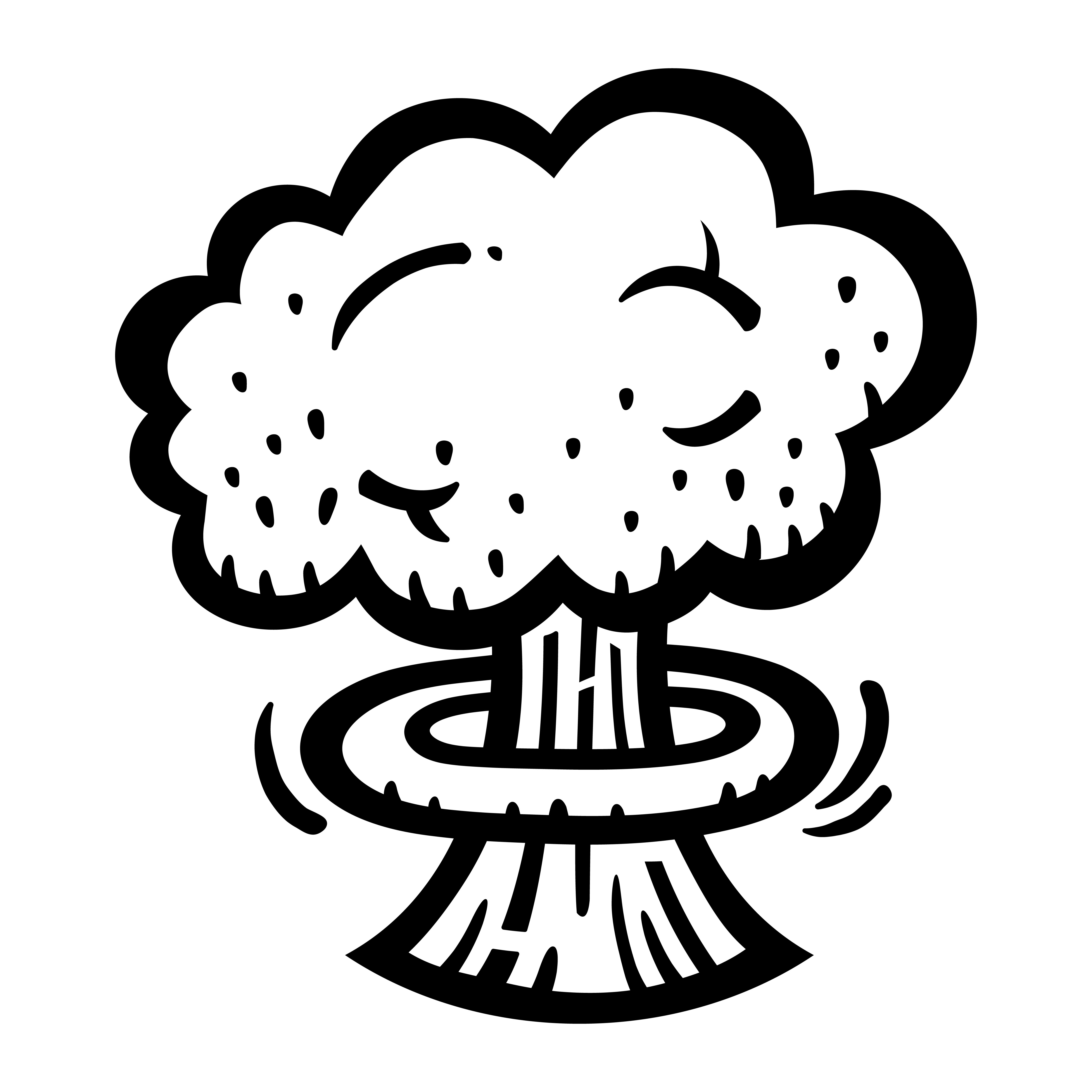 Mushroom Cloud Atomic Nuclear Explosion Fallout