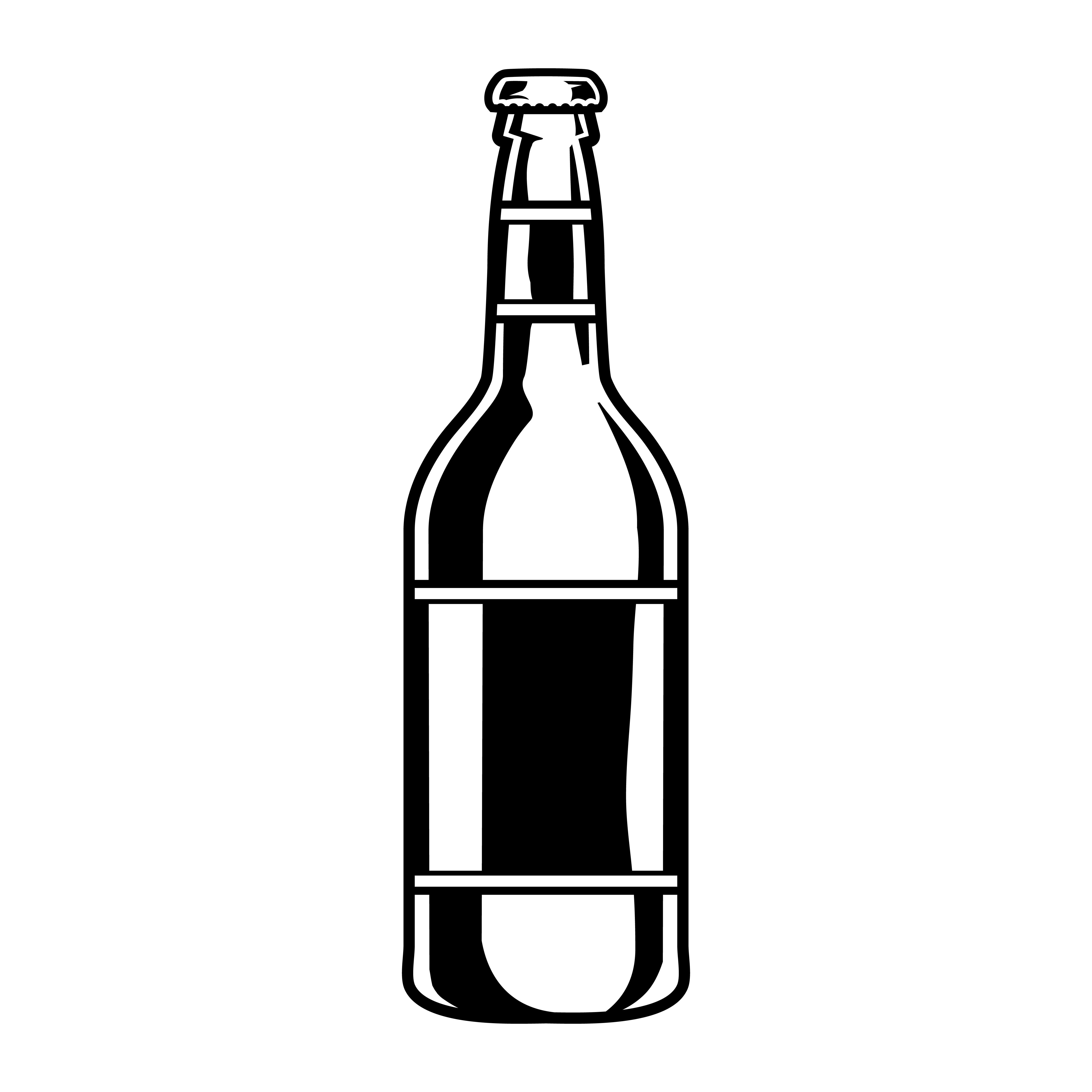 Vector Illustration Of A Beer Bottle