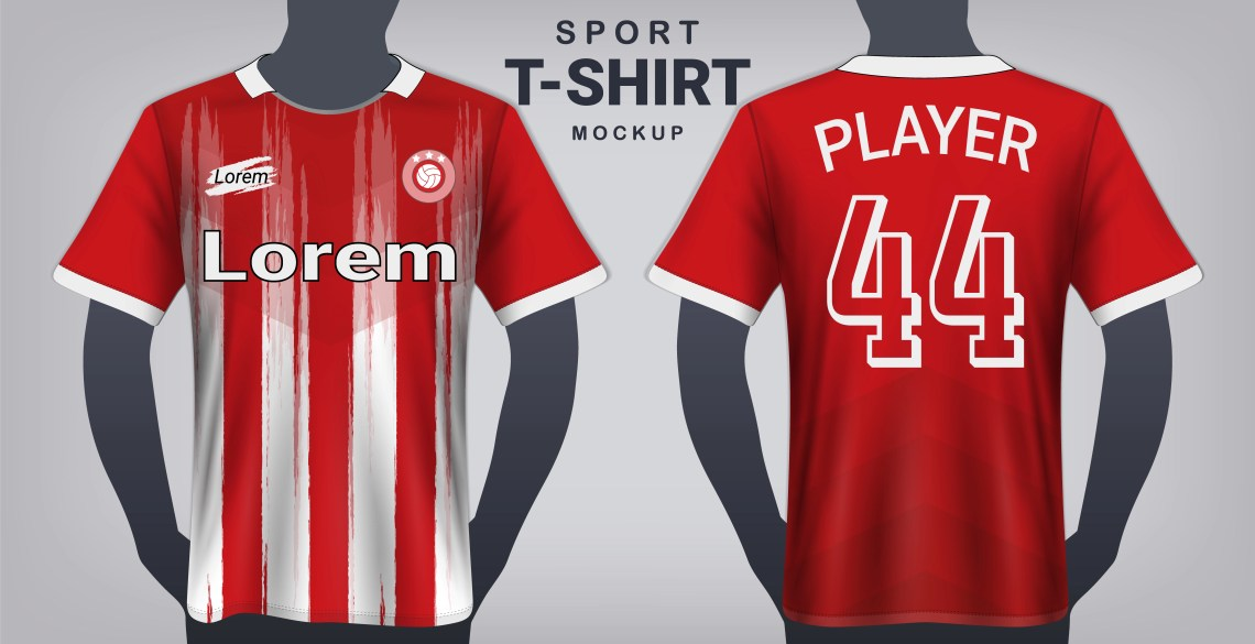 Download Soccer Jersey and Sport T-Shirt Mockup Template, Realistic ...