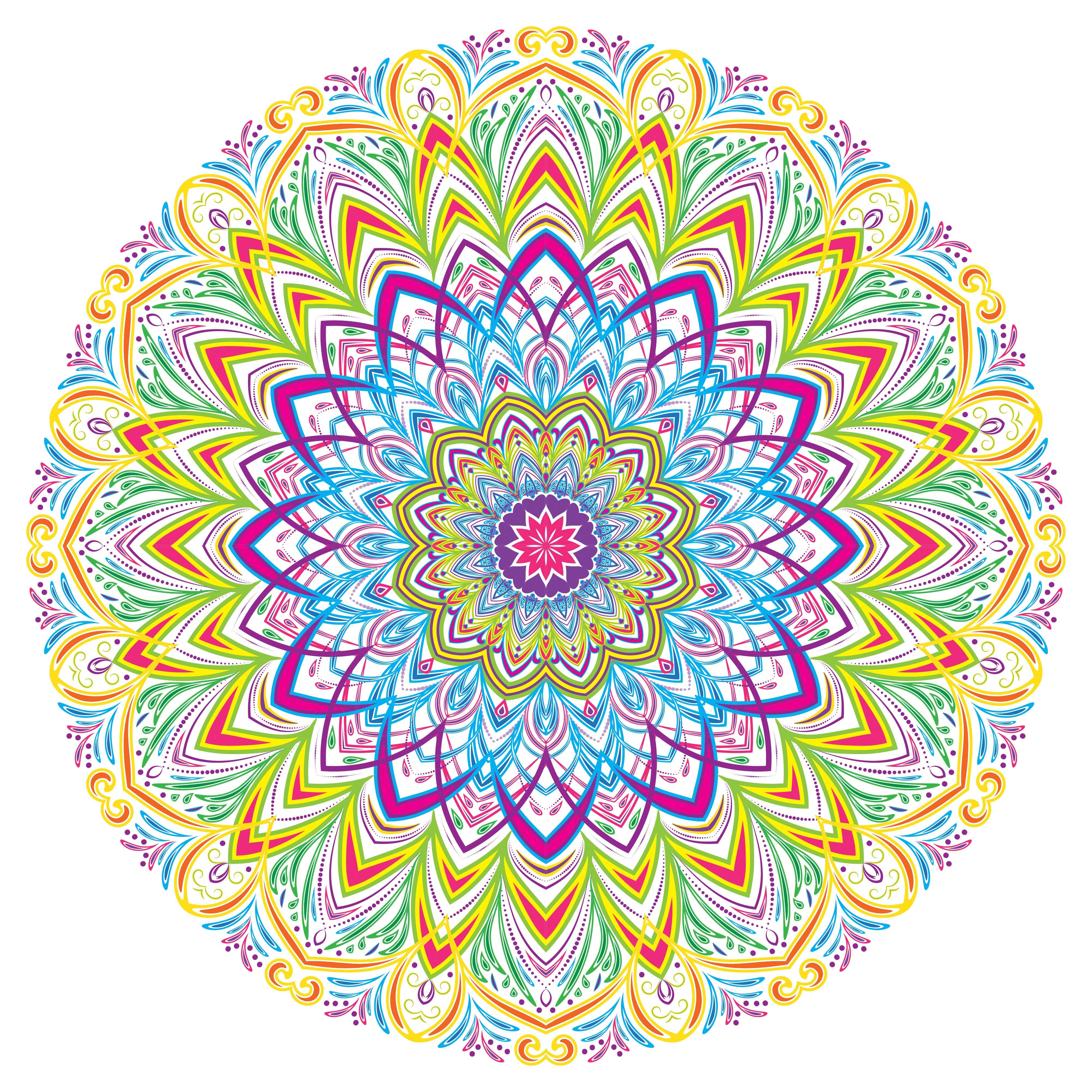 Colorful Mandala Vintage Decorative Elements Vector