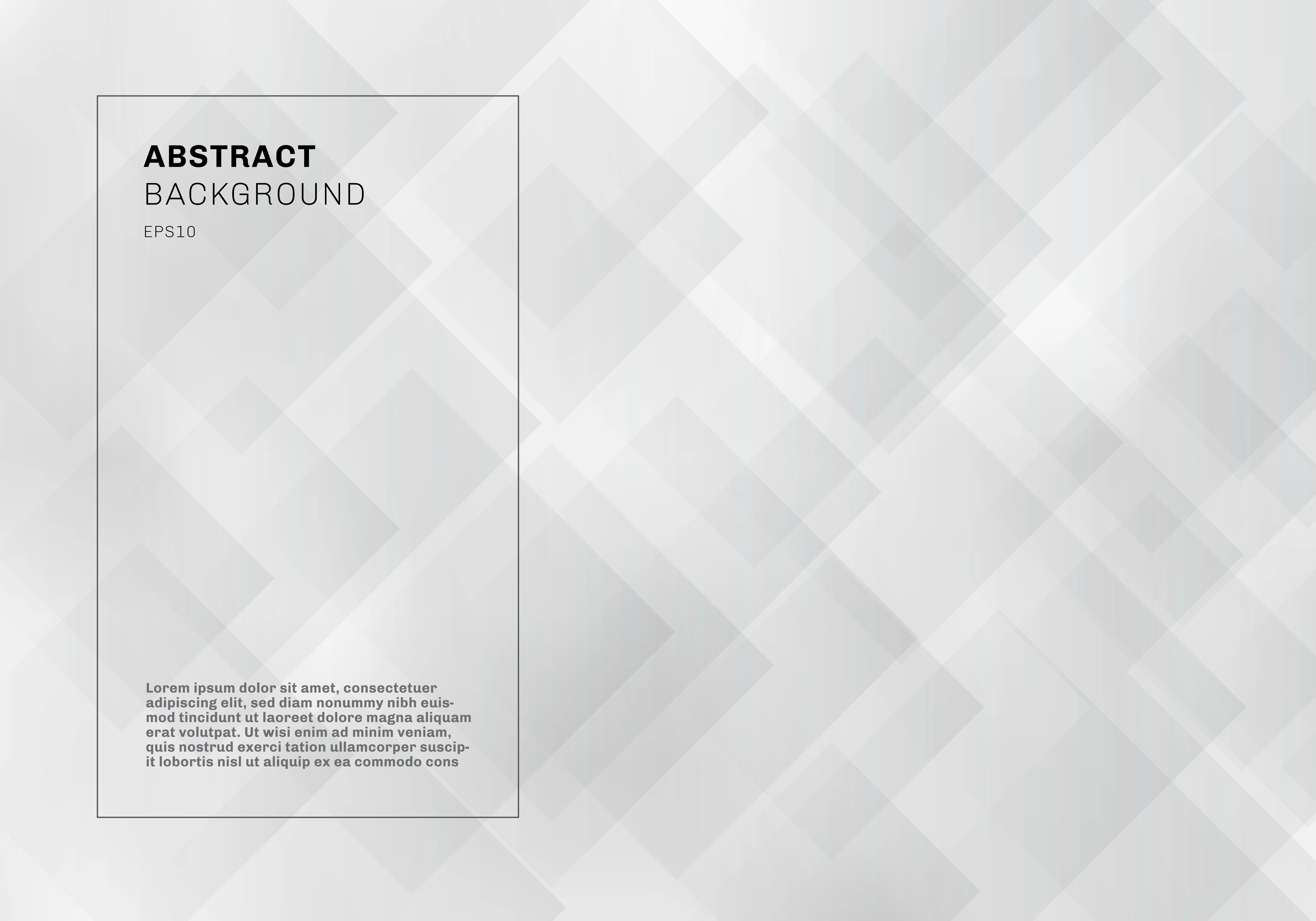 Abstract Elegant Geometric Squares Overlapping White And