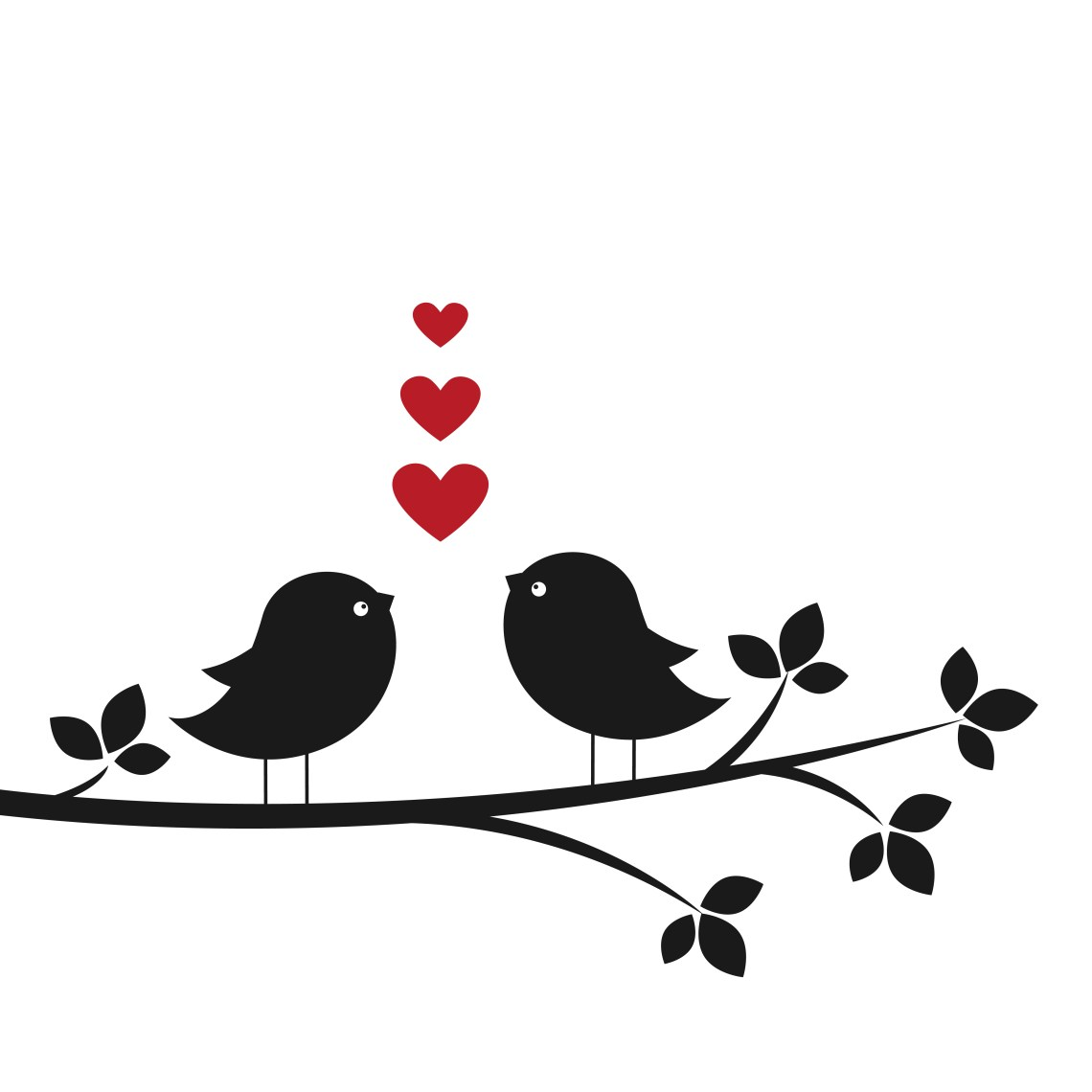 Download Silhouettes cute birds in Love - Download Free Vectors ...