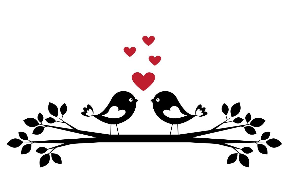 Download Silhouette cute birds in love - Download Free Vectors ...