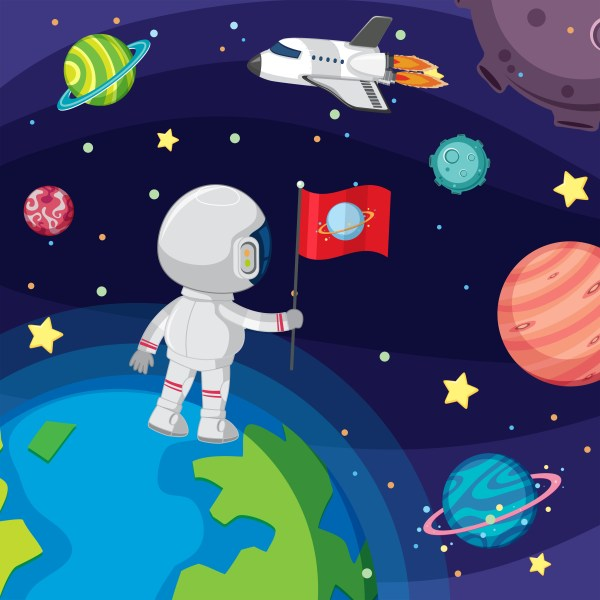 Astronaut floating in space Download Free Vectors