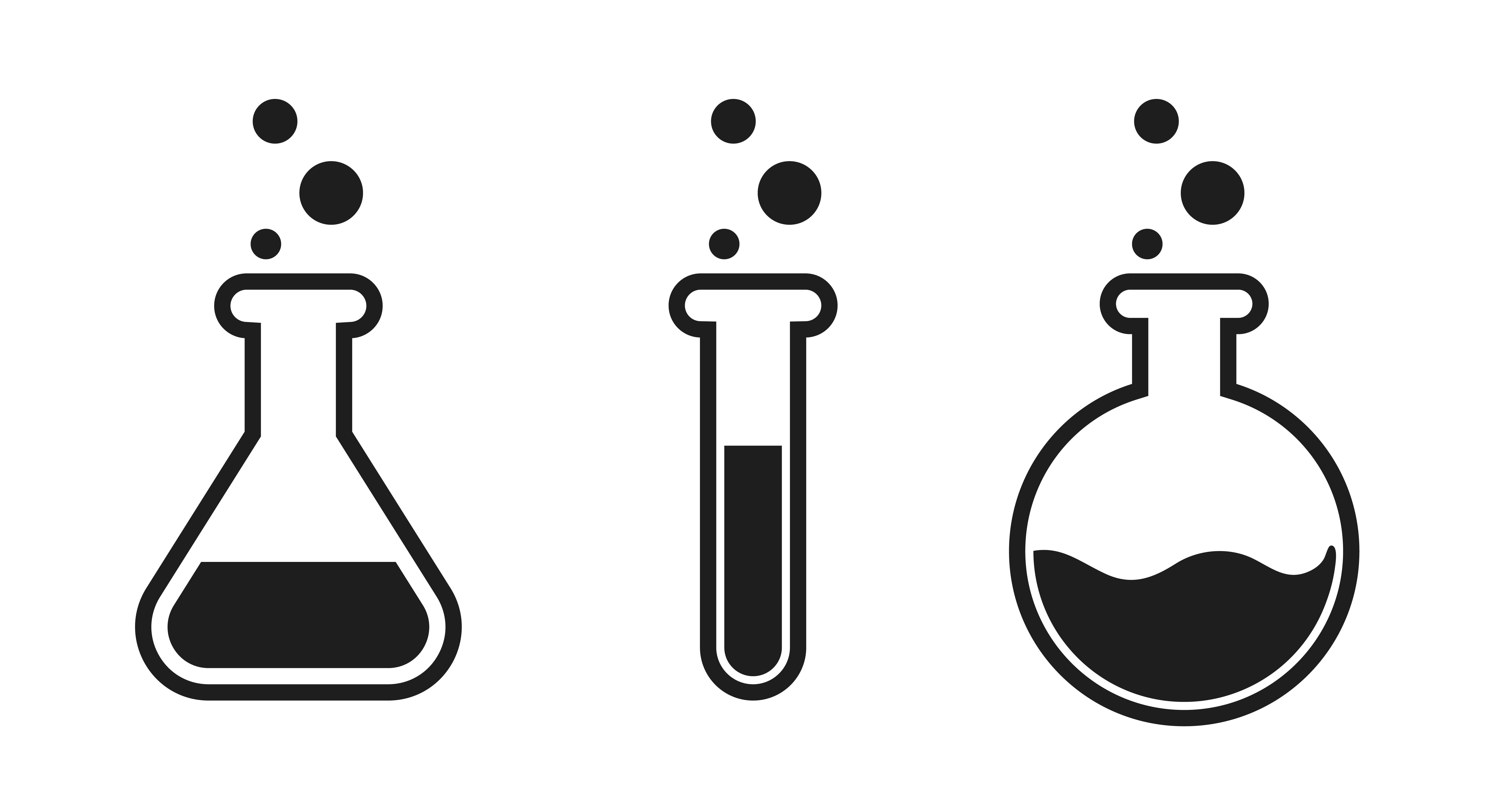 Liquid Test Tube Icon In The Science Laboratory