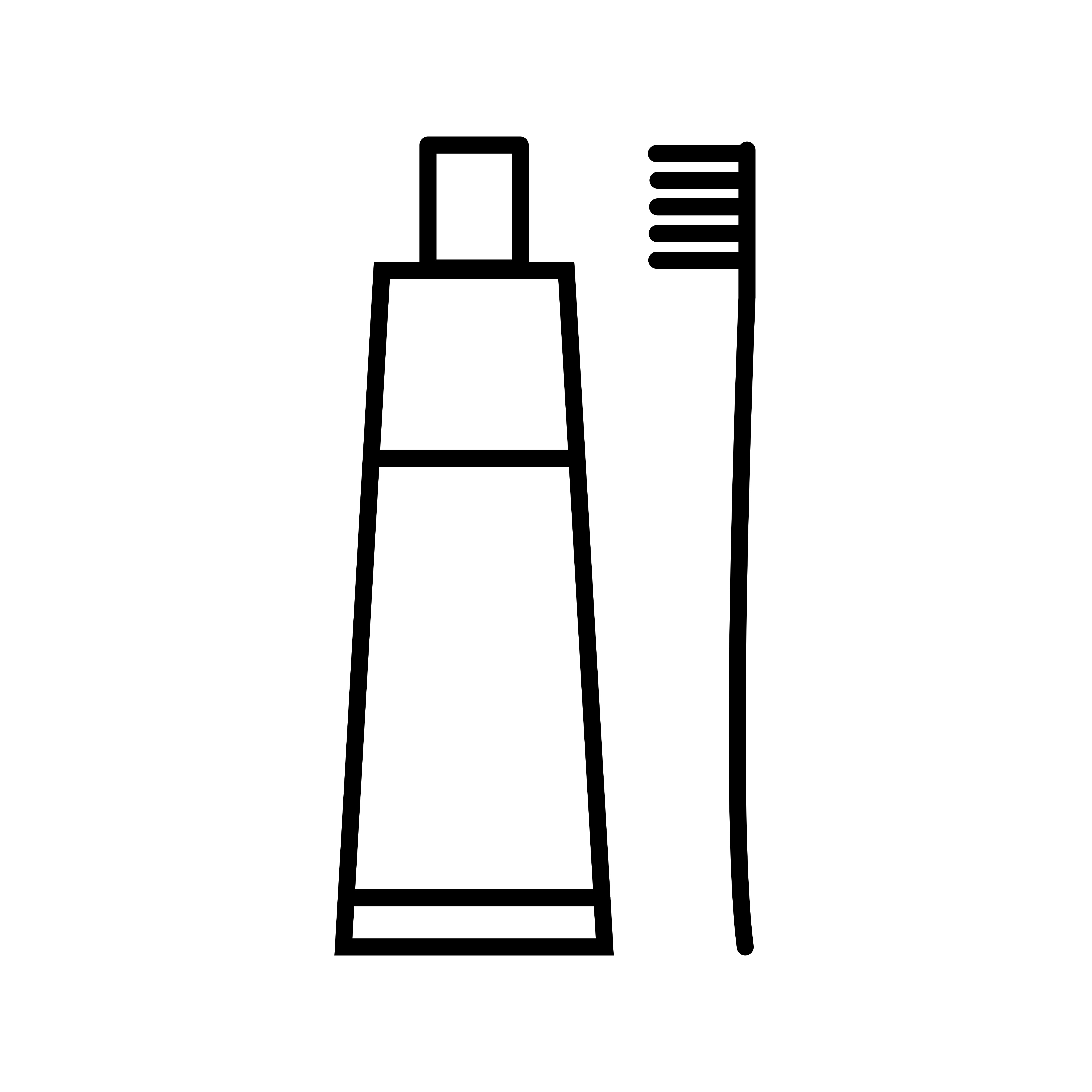 Beautiful Toothbrush And Toothpaste Line Black Icon
