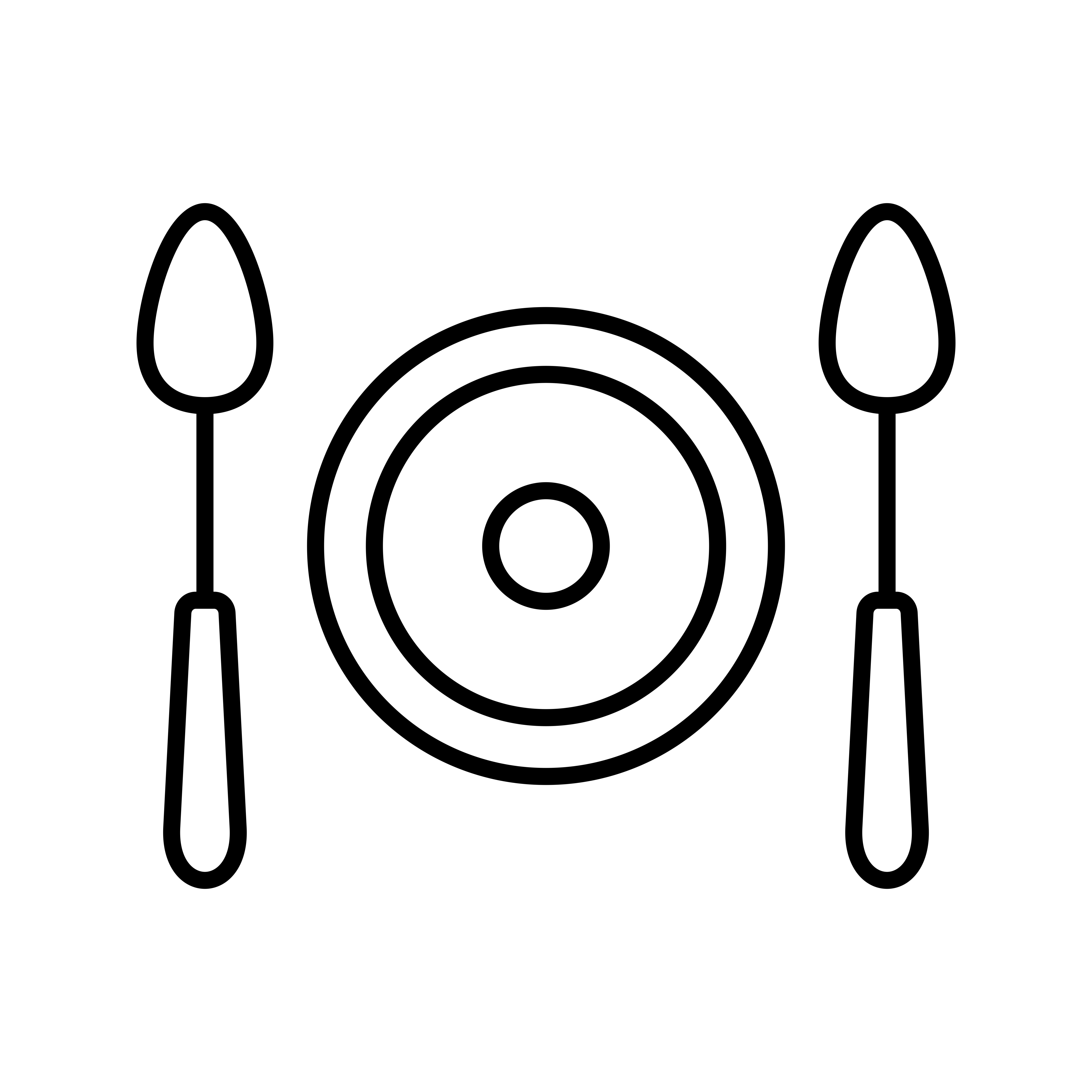 Meal Line Black Icon Vector