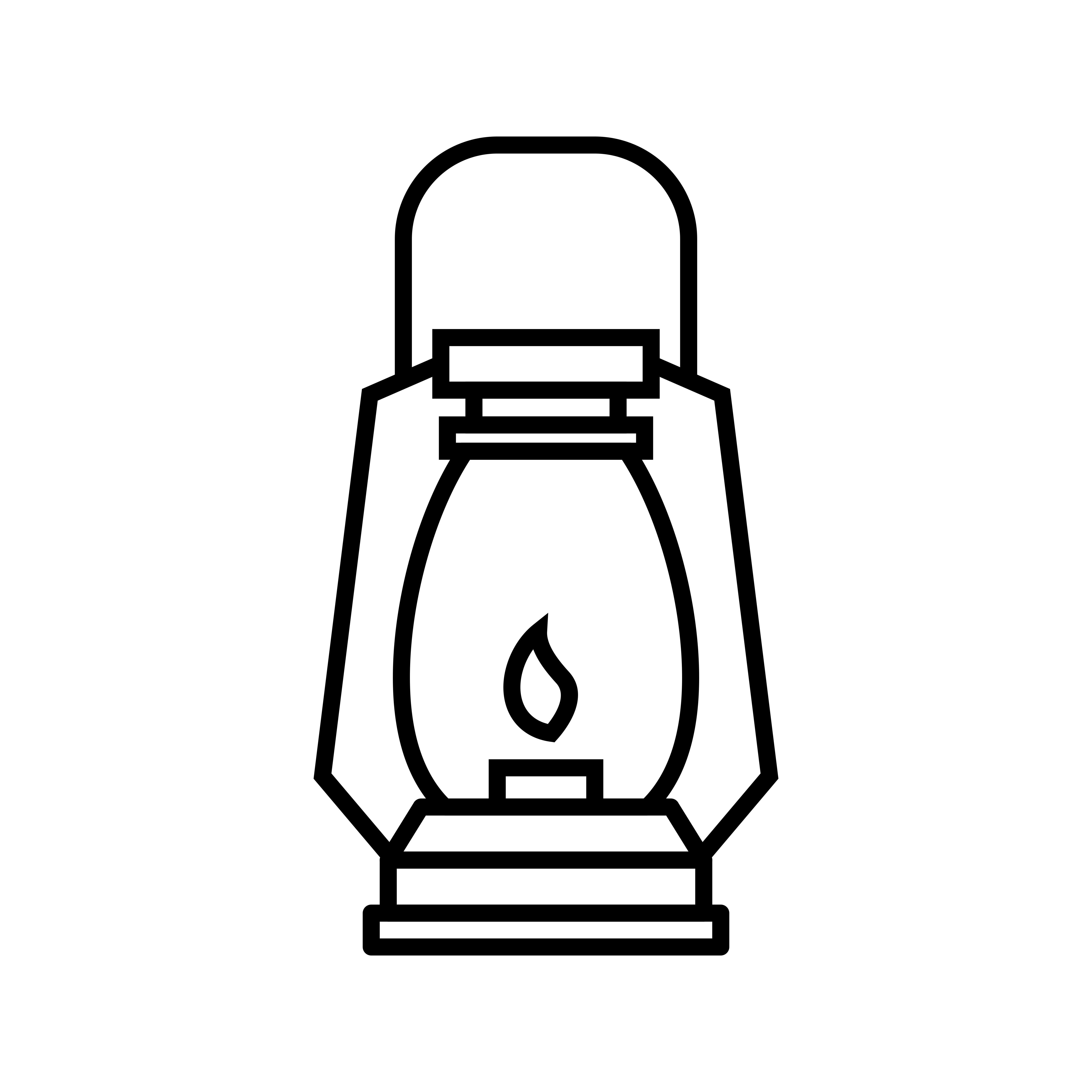 Gas Lamp Line Black Icon
