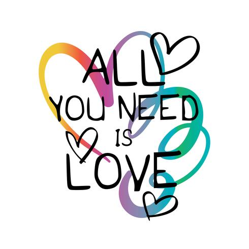 Download All you need is love quote - Download Free Vectors ...