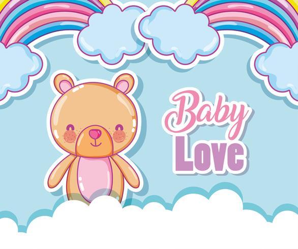 Download Baby love cartoon rainbows - Download Free Vectors ...