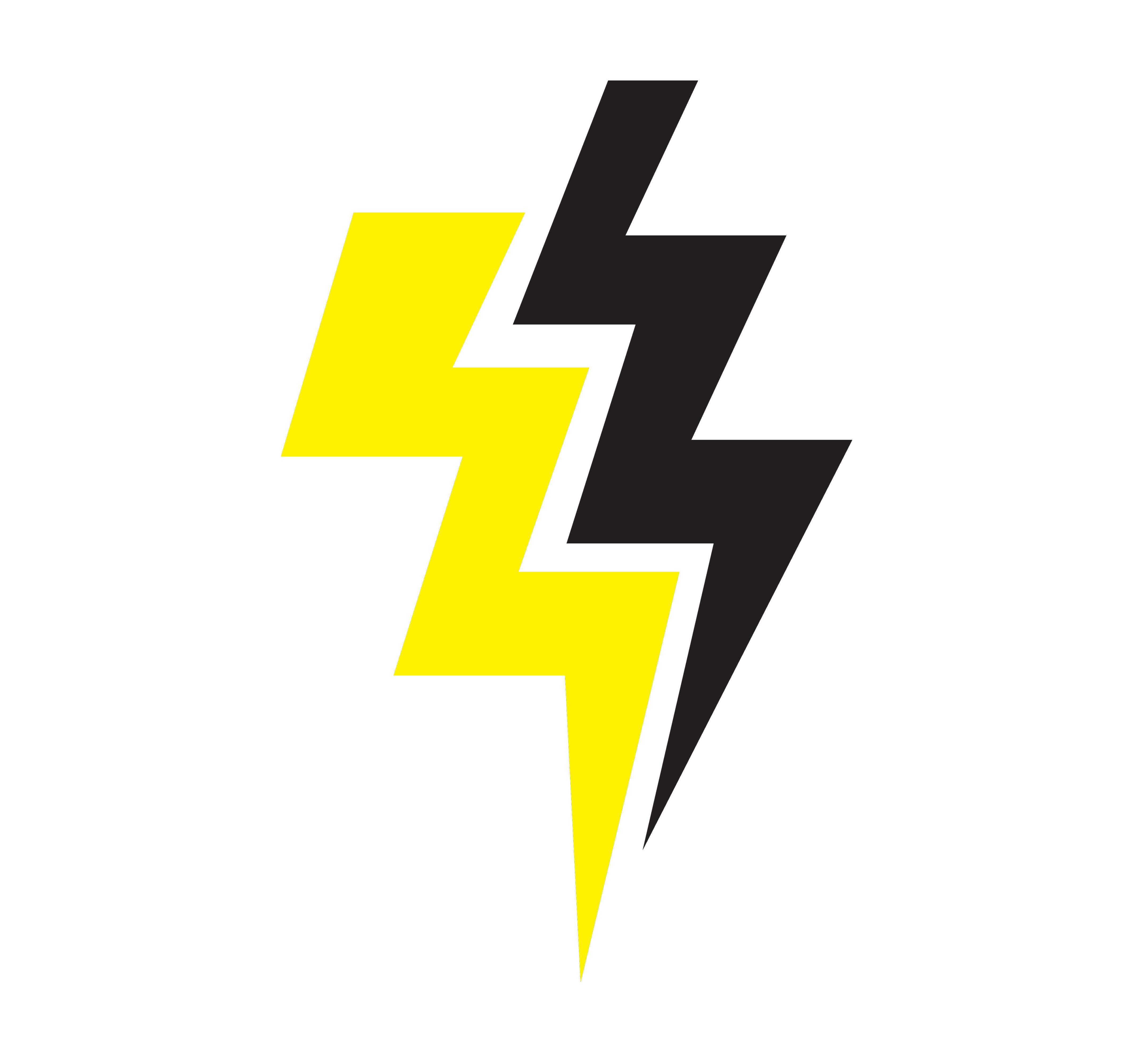 Yellow And Black Thunder Symbol
