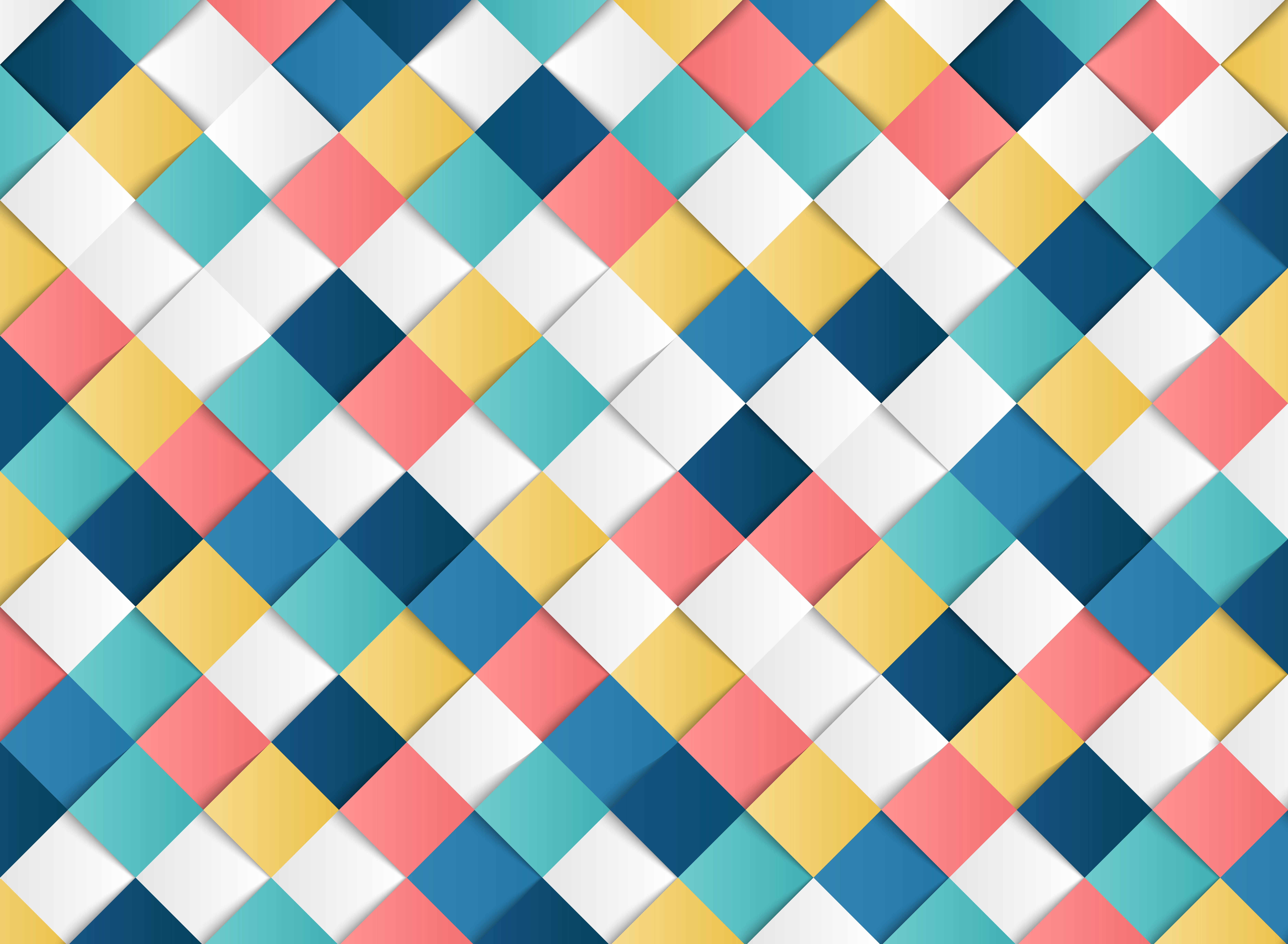 Abstract Colorful Square Geometric Pattern Design Paper
