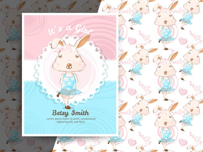 Vintage Baby Shower Invitation With
