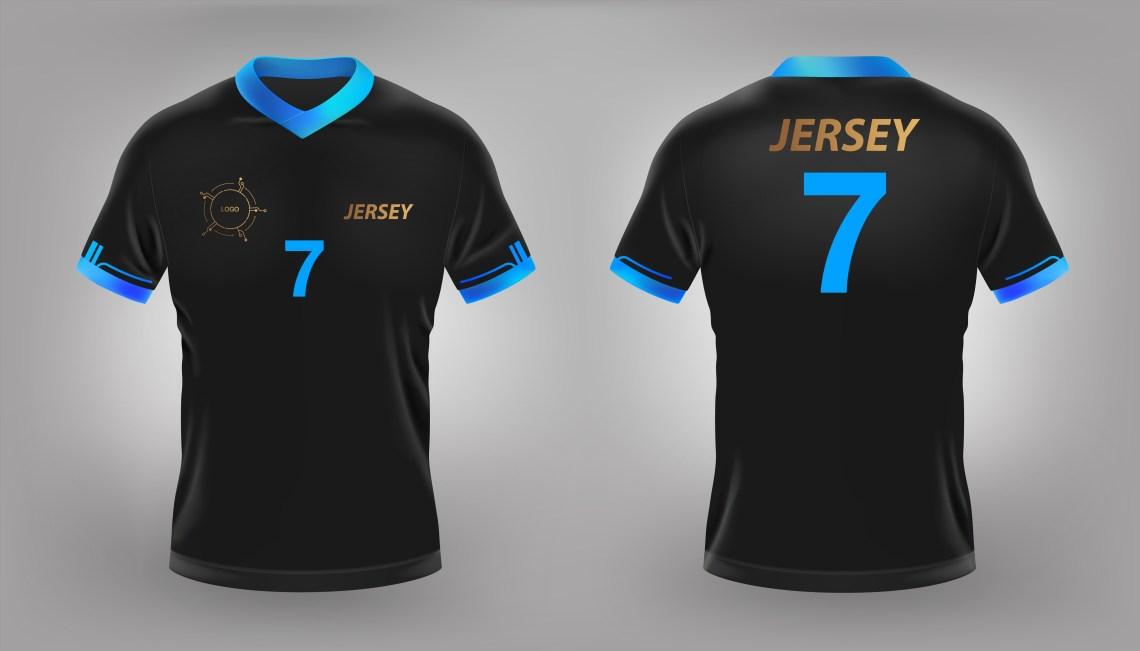 Download Black soccer or football jersey mock up - Download Free ...