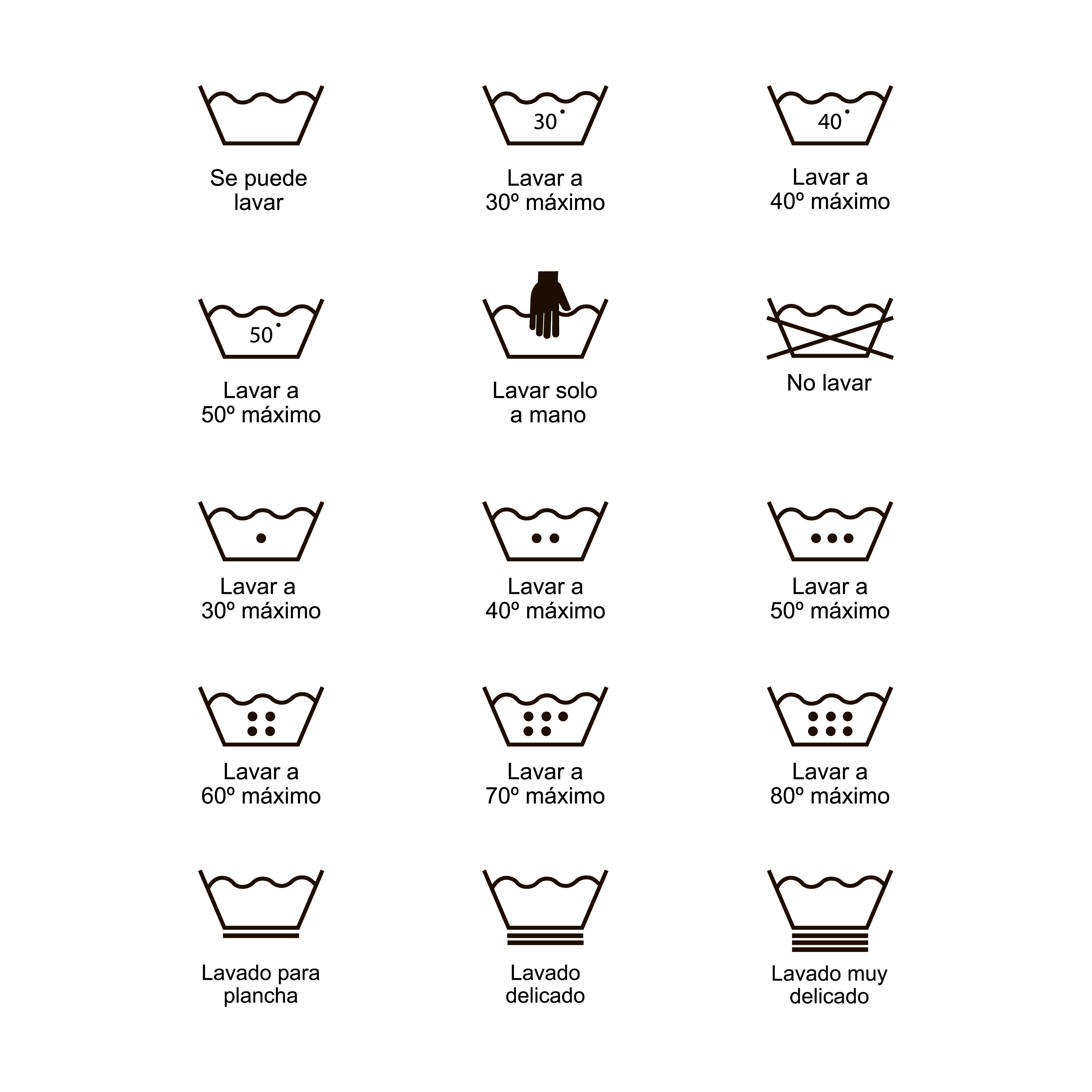 Icon Set Of Laundry Symbols Vector Illustration Print
