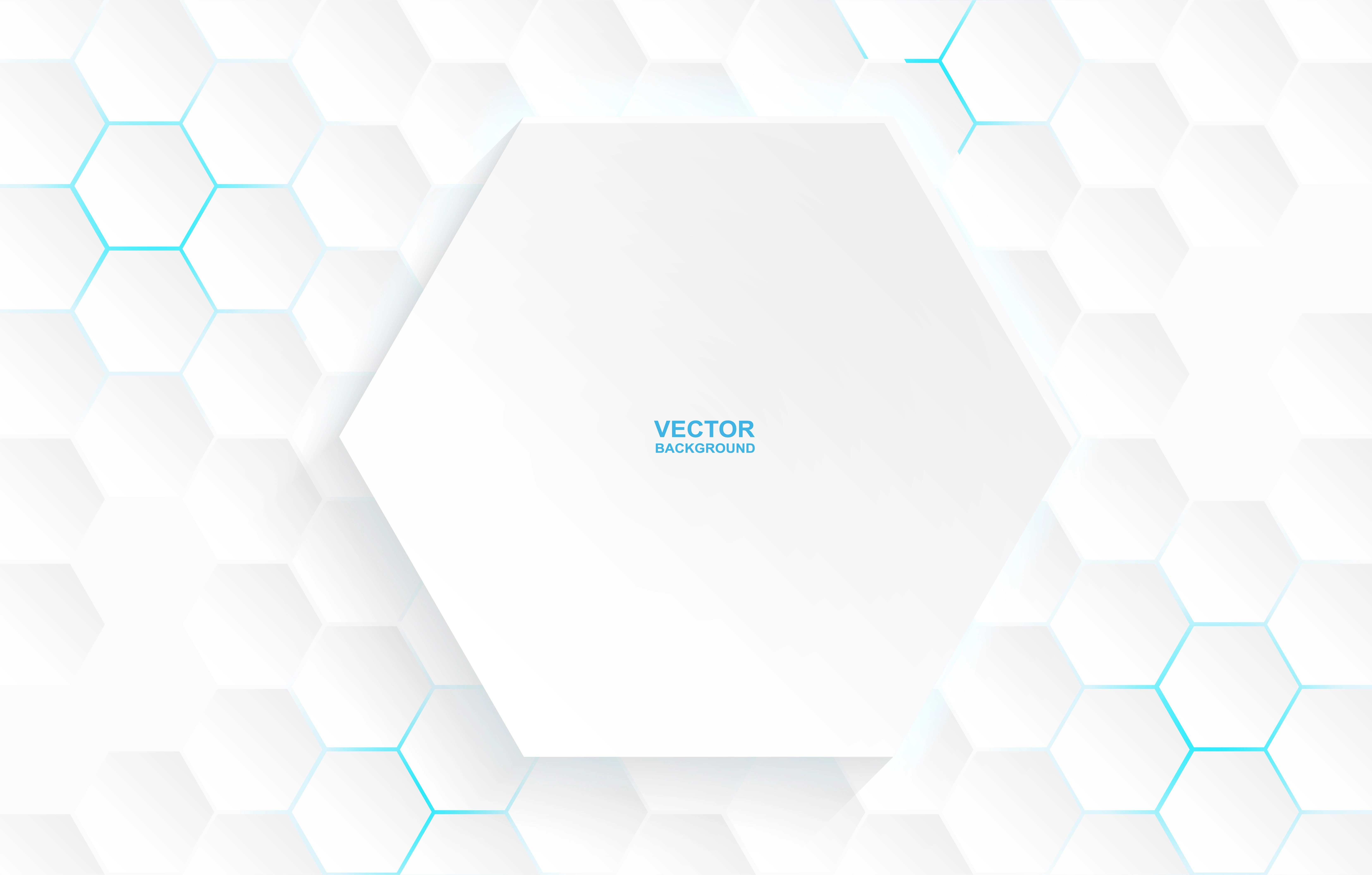 Large White Hexagon On Small Hexagons Pattern