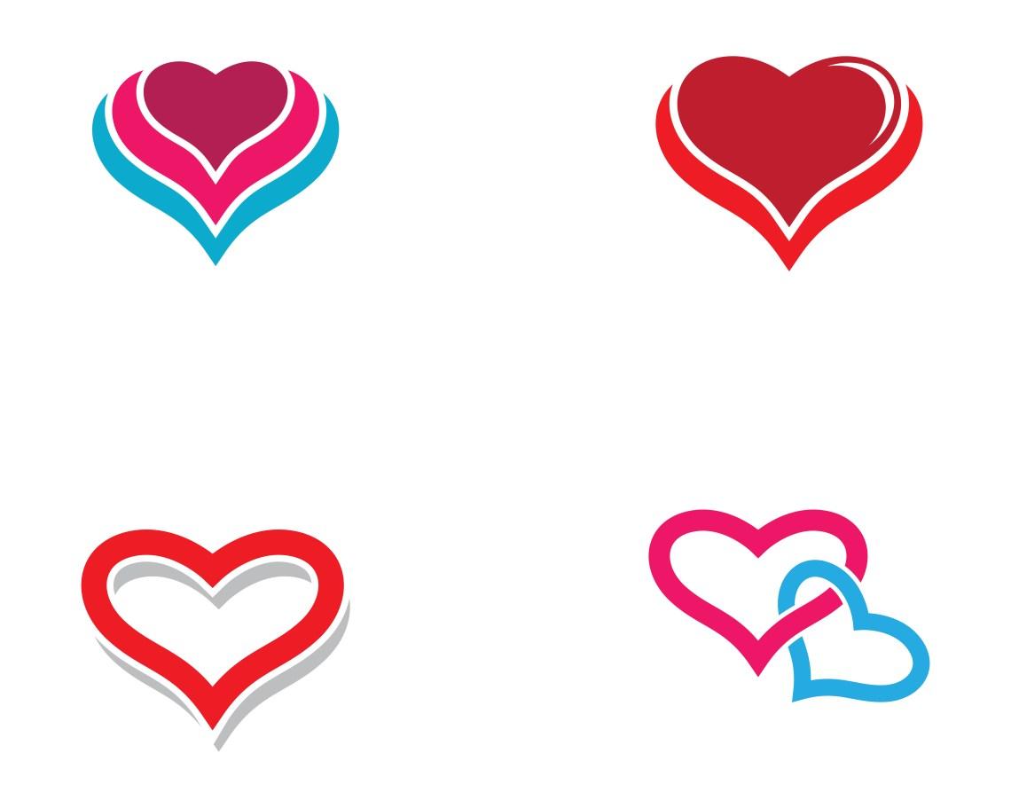 Download Love heart logo set - Download Free Vectors, Clipart ...