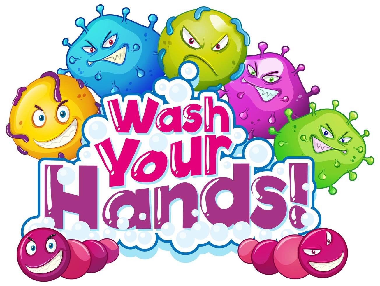 Wash Your Hands Poster Design