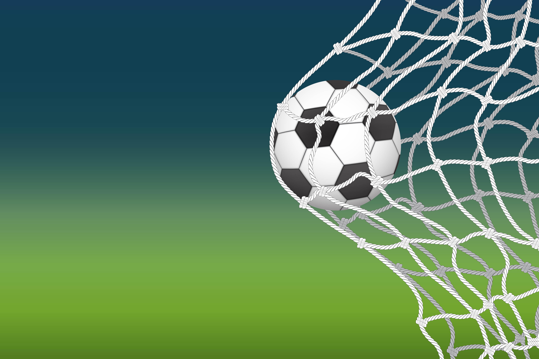 Soccer Ball Going Into Net Goal