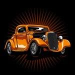 Orange Vintage Hot Rod Download Free Vectors Clipart Graphics Vector Art