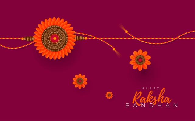 Raksha Bandhan Greeting Card Design 1229415 Vector Art at Vecteezy