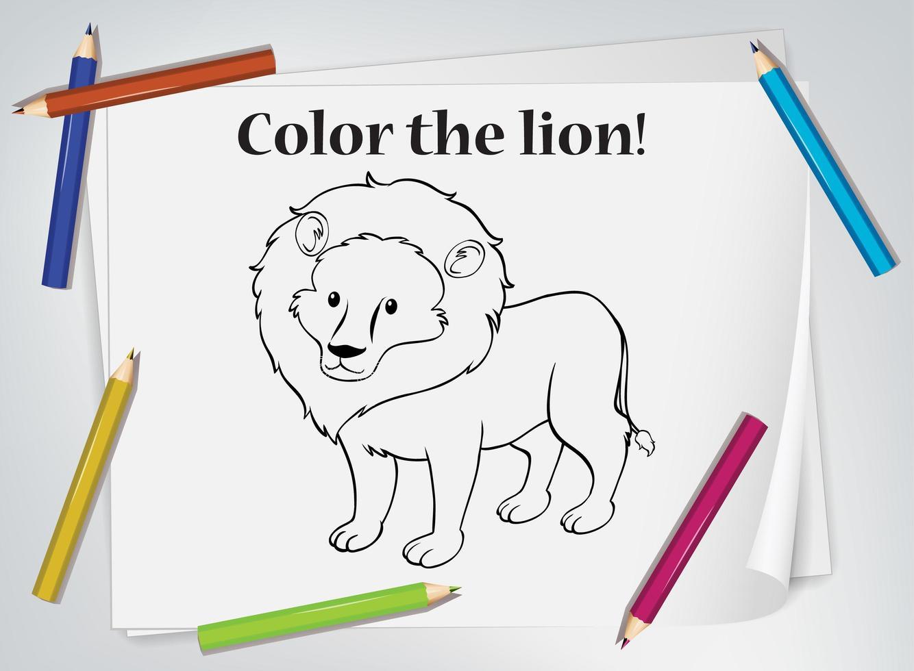 Lion Coloring Worksheet