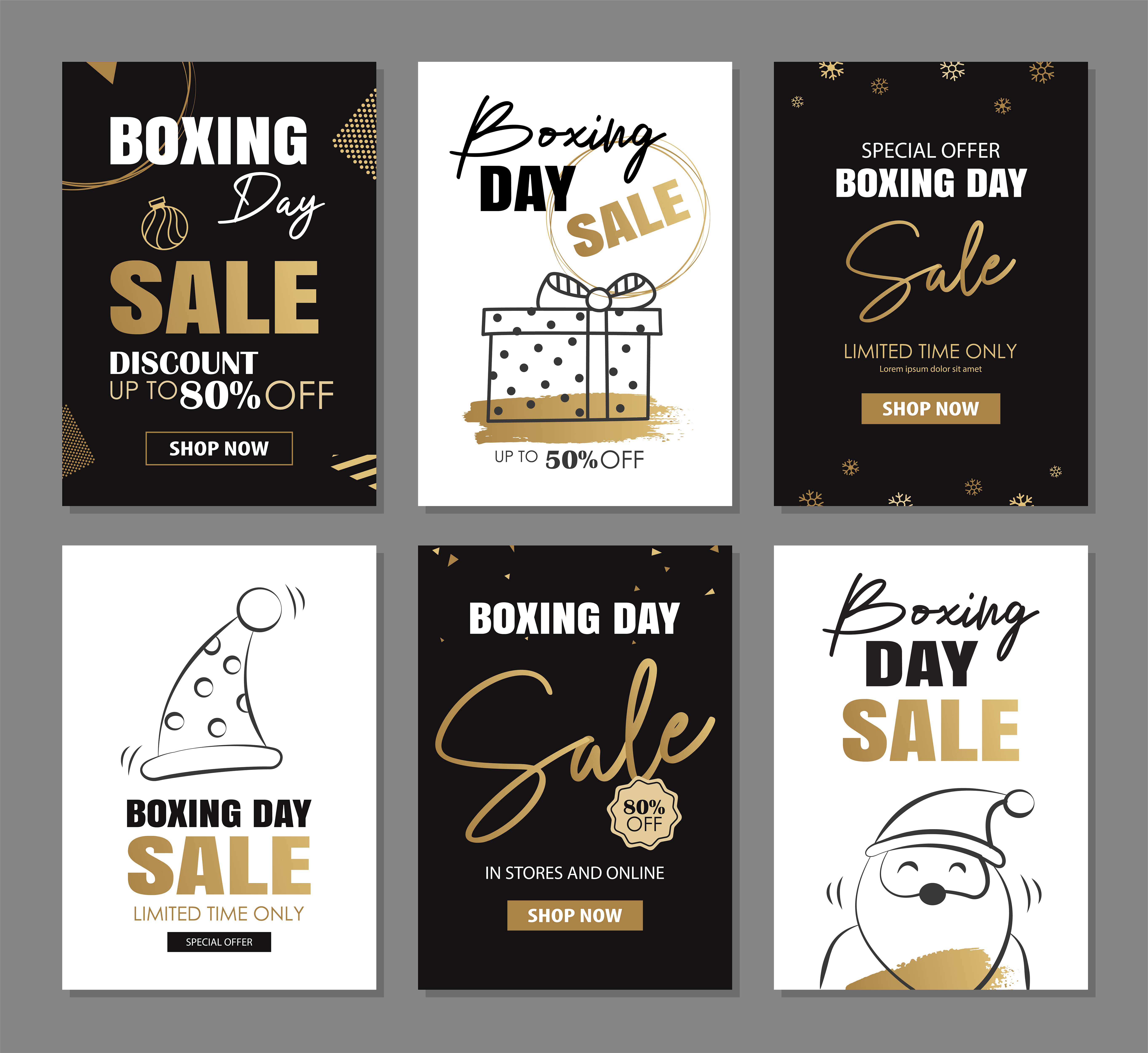 boxing day sale banner design with gold luxury decoration templates 1858448 download free vectors clipart graphics vector art