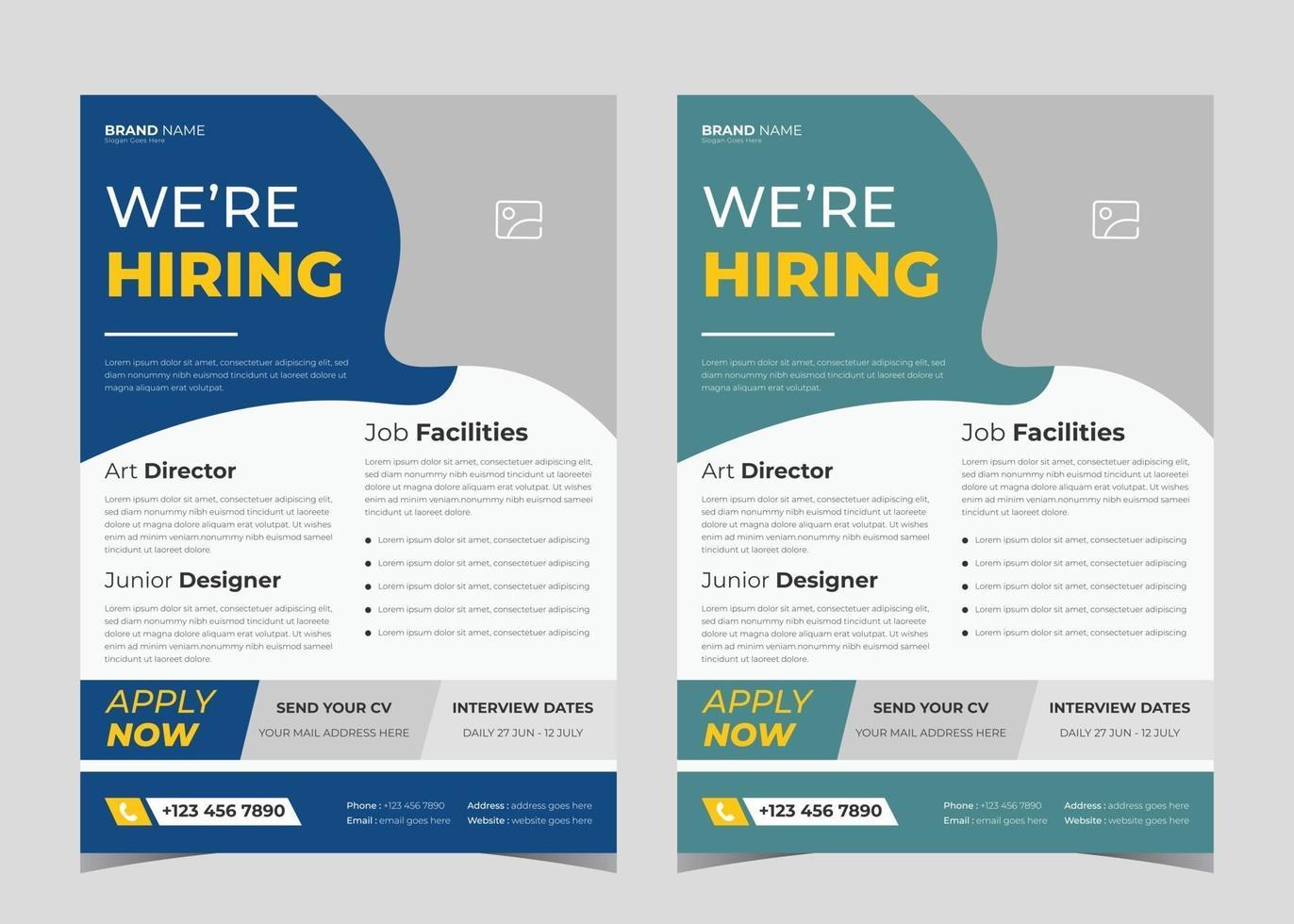 Download your design in jpg, png, or pdf. We Are Hiring Flyer Design We Are Hiring Poster Template Job Vacancy Leaflet Flyer Template Design 2629088 Vector Art At Vecteezy