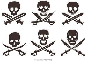 Skull And Cross Bones Free Vector Art 2 761 Free Downloads