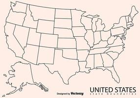 Download outline map of the united states of america. Us Map Vector Art Icons And Graphics For Free Download