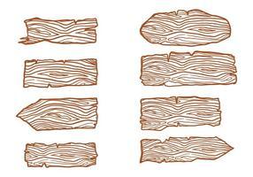 Free Wood Logs Sign Vectors