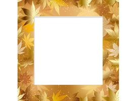 A seamless autumn frame. vector