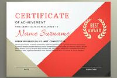Certificate Template Free Vector Art    23948 Free Downloads  certificate of achievement template